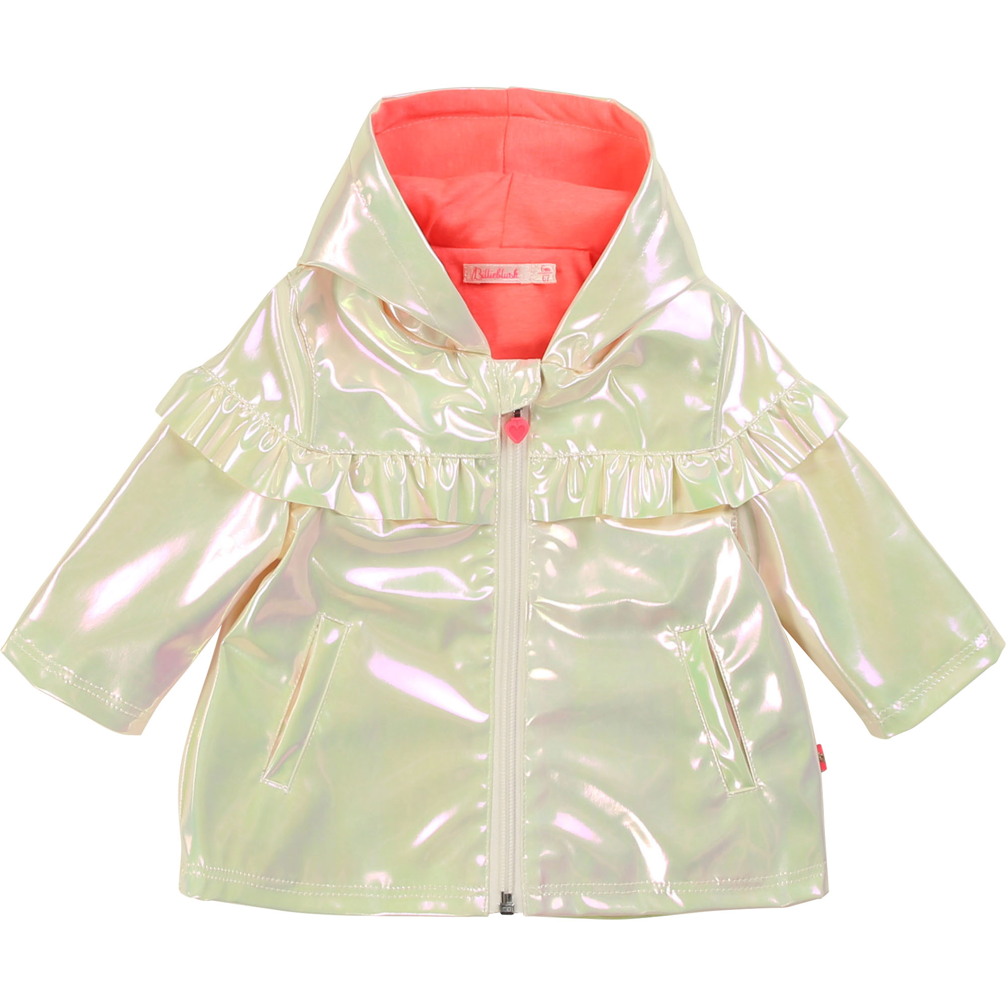 Lined iridescent raincoat BILLIEBLUSH for GIRL
