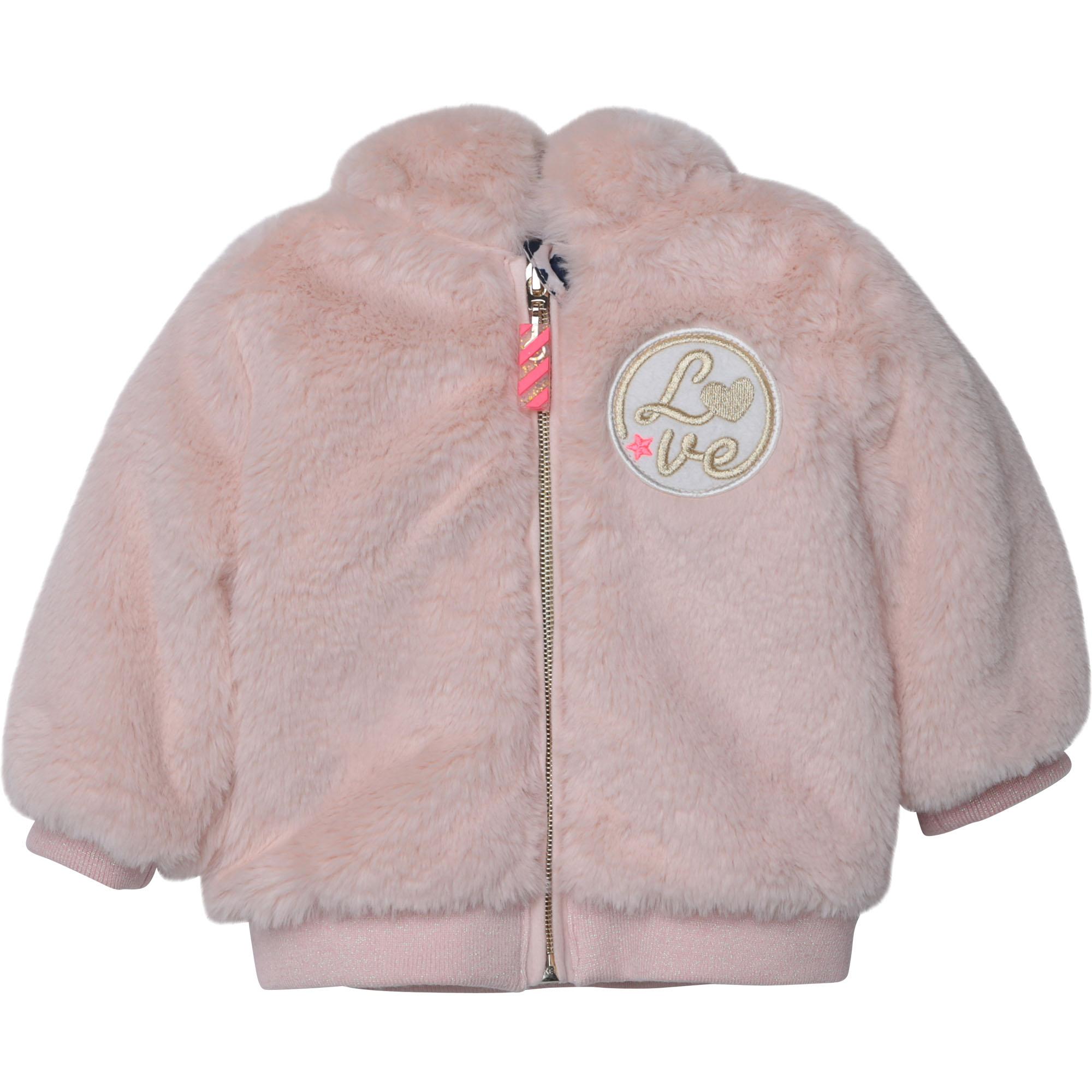Zipped faux fur jacket BILLIEBLUSH for GIRL