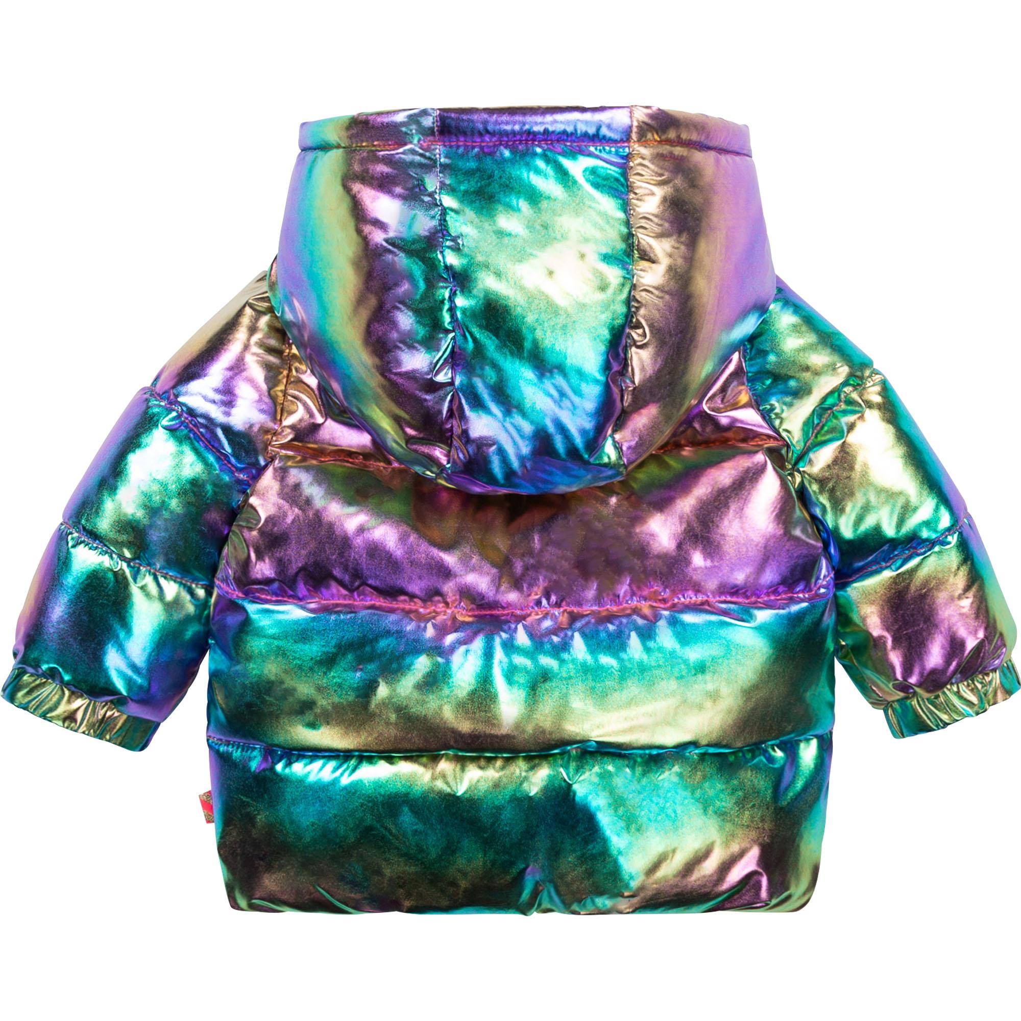 Iridescent hooded puffer jacket BILLIEBLUSH for GIRL