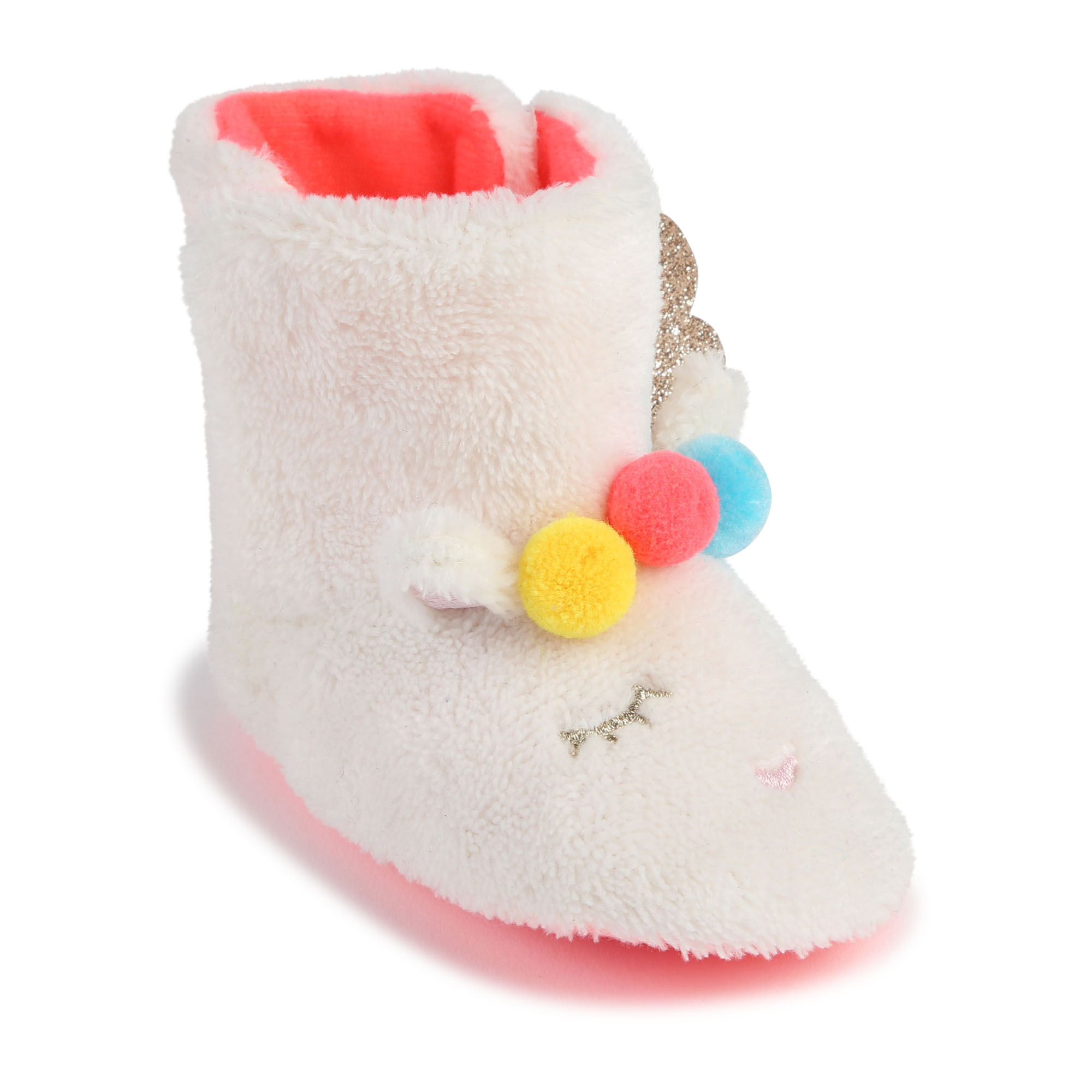 Faux fur boots with pompoms BILLIEBLUSH for GIRL