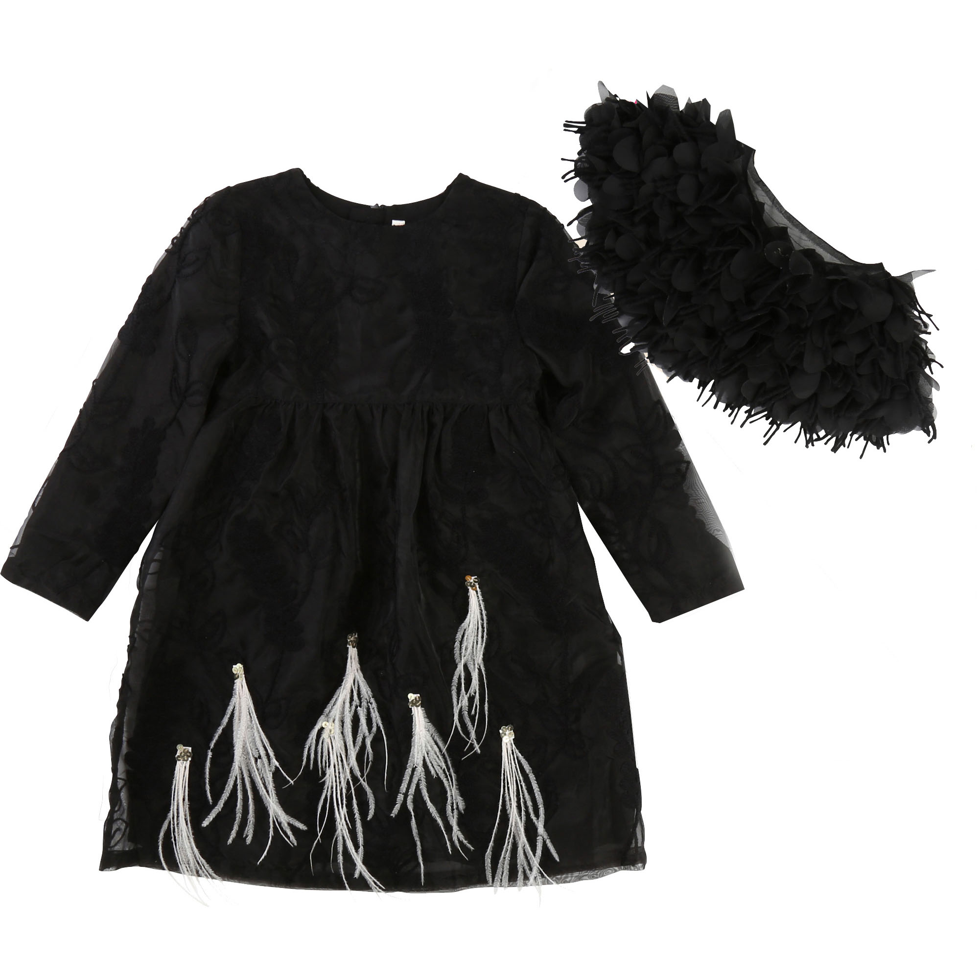 Black feather dress BILLIEBLUSH for GIRL