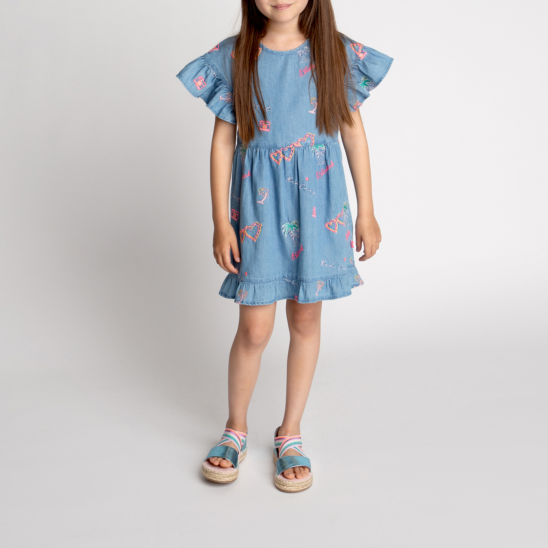 Embroidered denim dress BILLIEBLUSH for GIRL