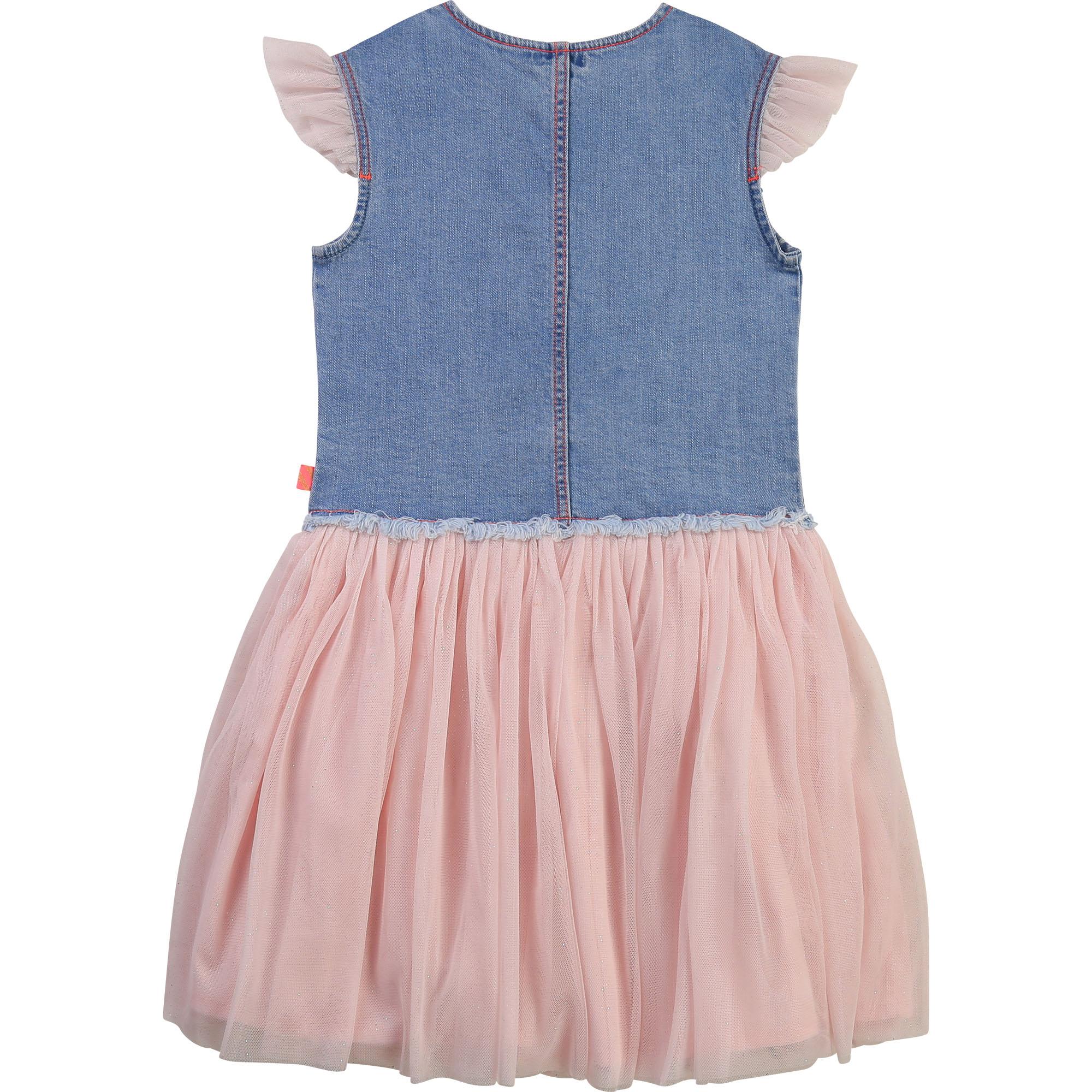 Lined denim and tulle dress BILLIEBLUSH for GIRL