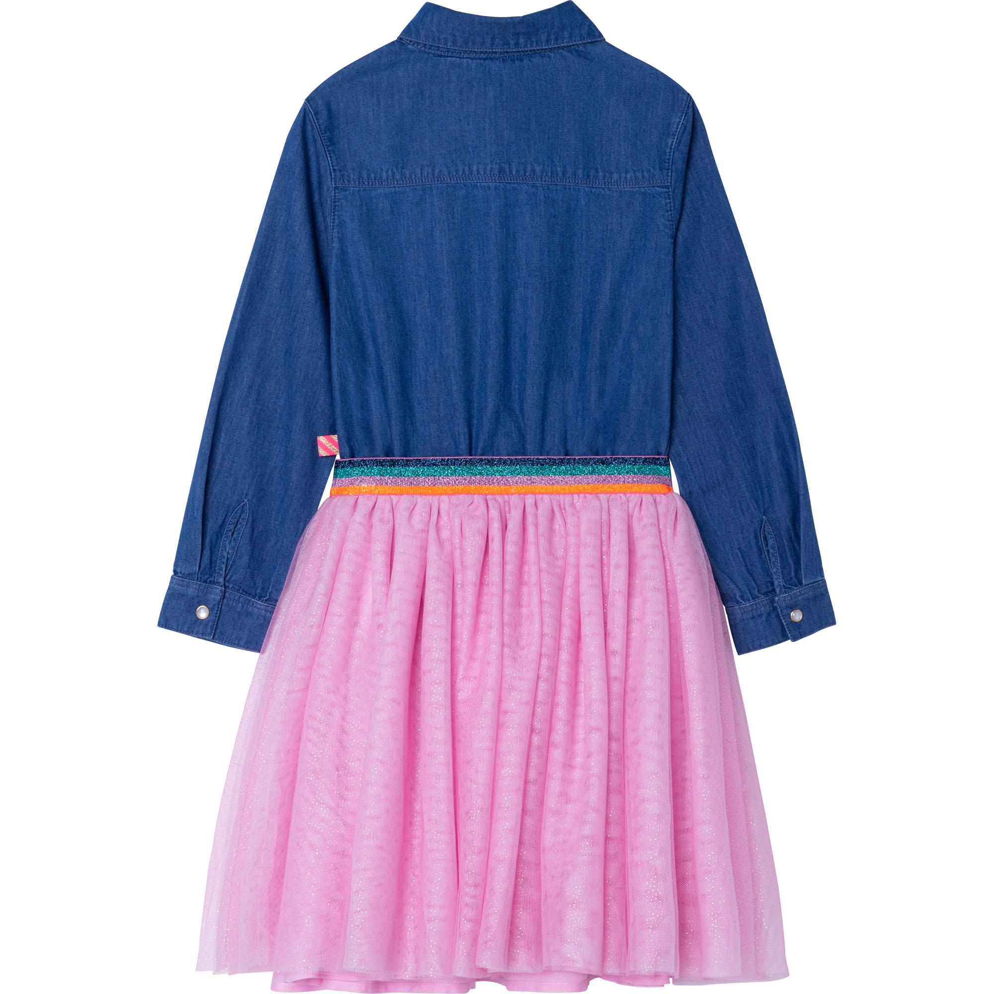 Denim and tulle dress BILLIEBLUSH for GIRL