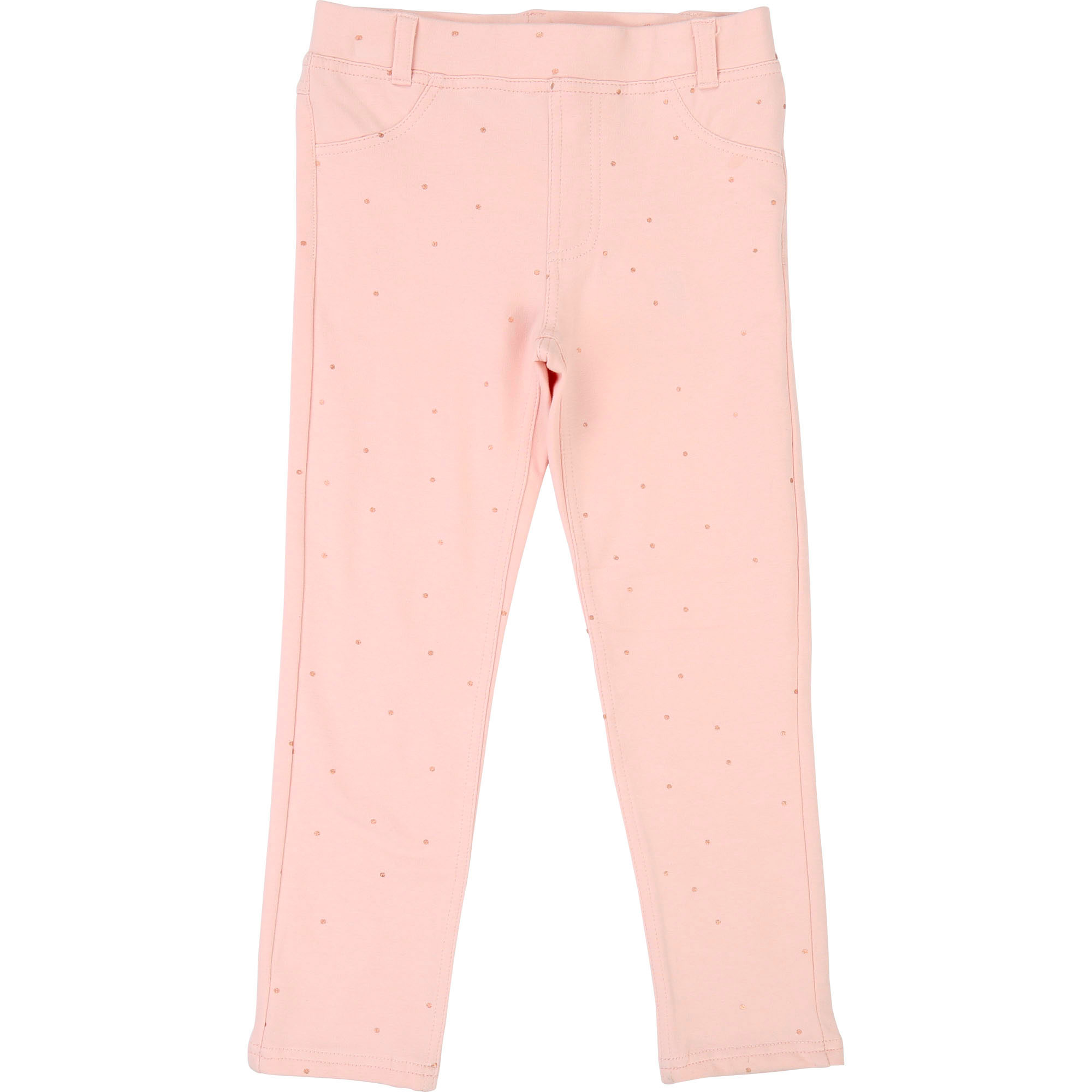 Polka-dotted fleece jeggings BILLIEBLUSH for GIRL