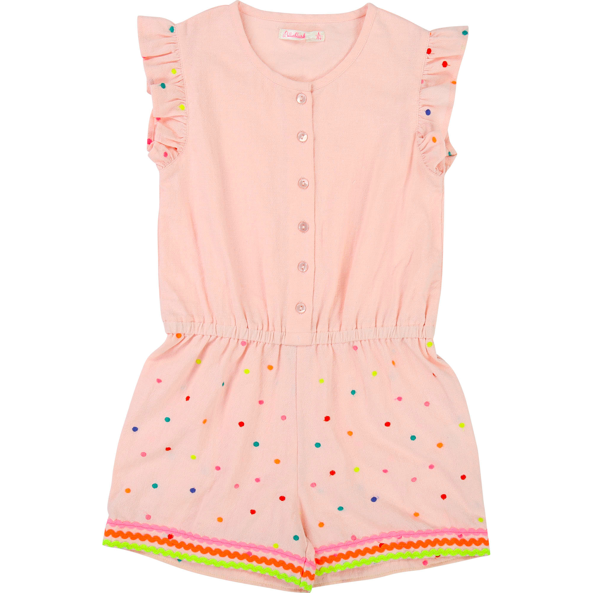 Polka-dotted frilled playsuit BILLIEBLUSH for GIRL