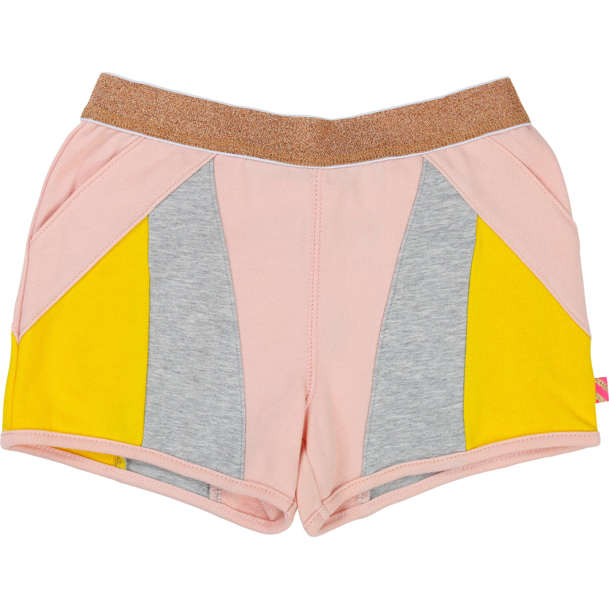 Metallic stretch fleece shorts BILLIEBLUSH for GIRL