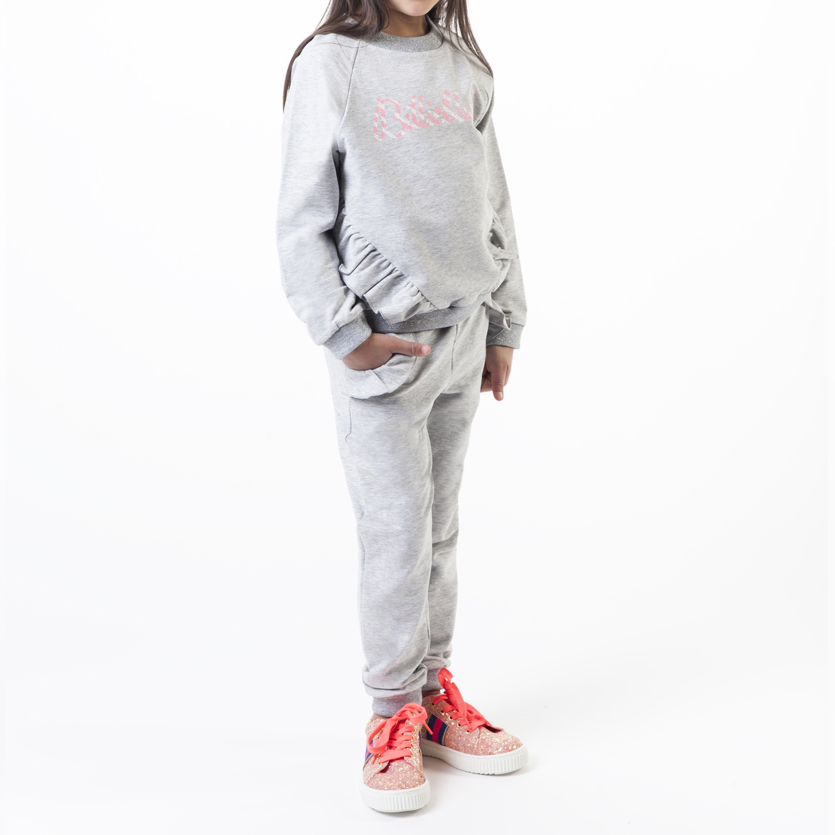 Signature fleece sweatshirt BILLIEBLUSH for GIRL