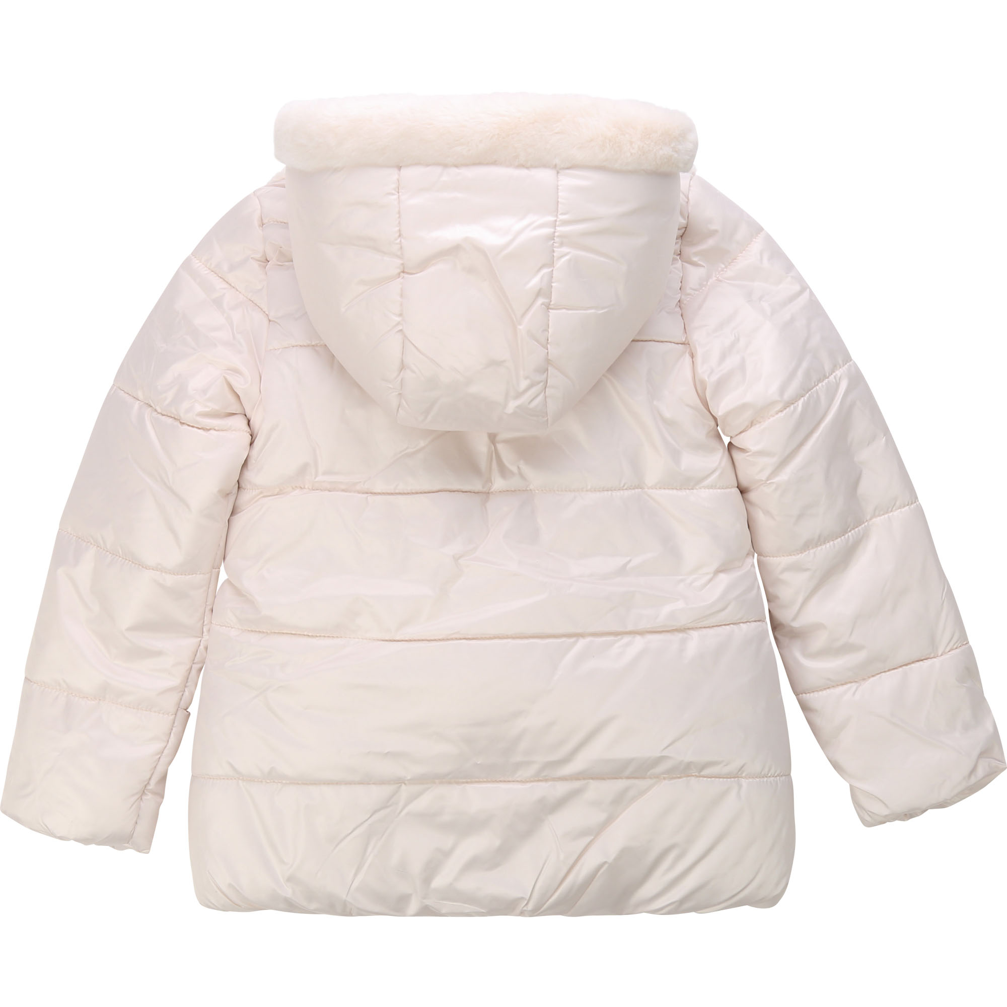 Hooded winter jacket with fur BILLIEBLUSH for GIRL