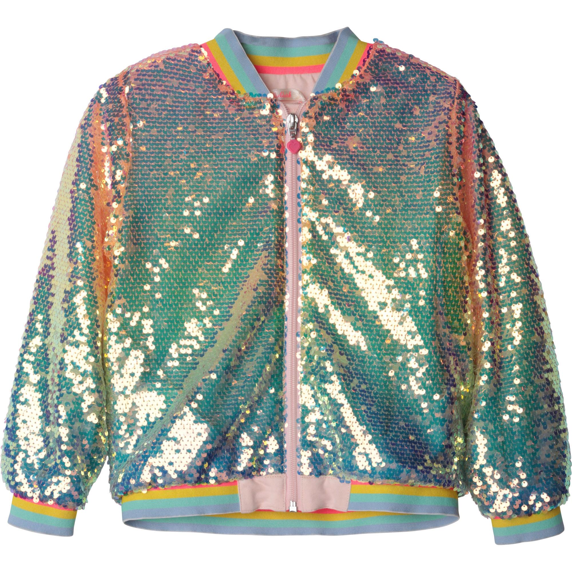 Sequined zip-up bomber jacket BILLIEBLUSH for GIRL
