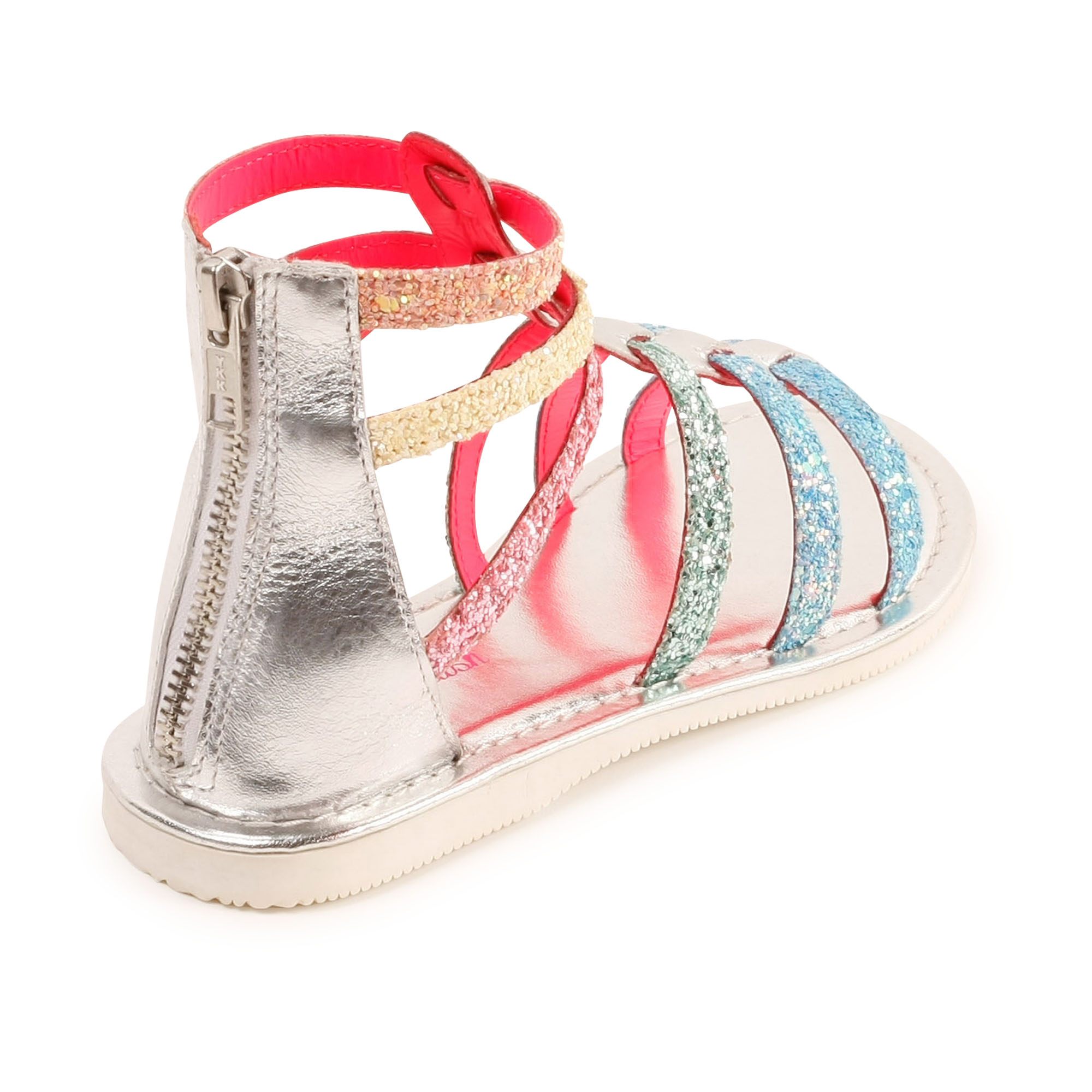 Sequined leather sandals BILLIEBLUSH for GIRL