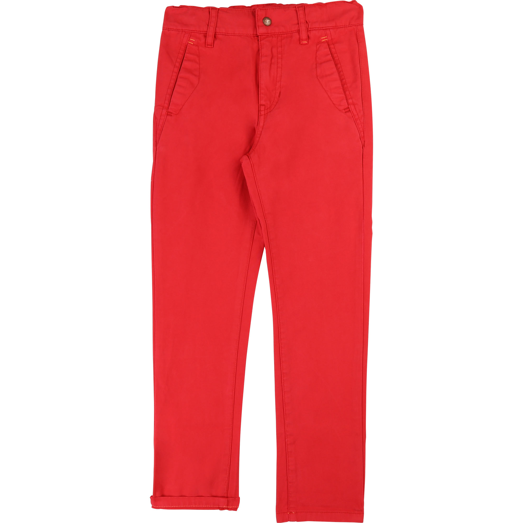 Plain 4-pocket chino trousers BILLYBANDIT for BOY