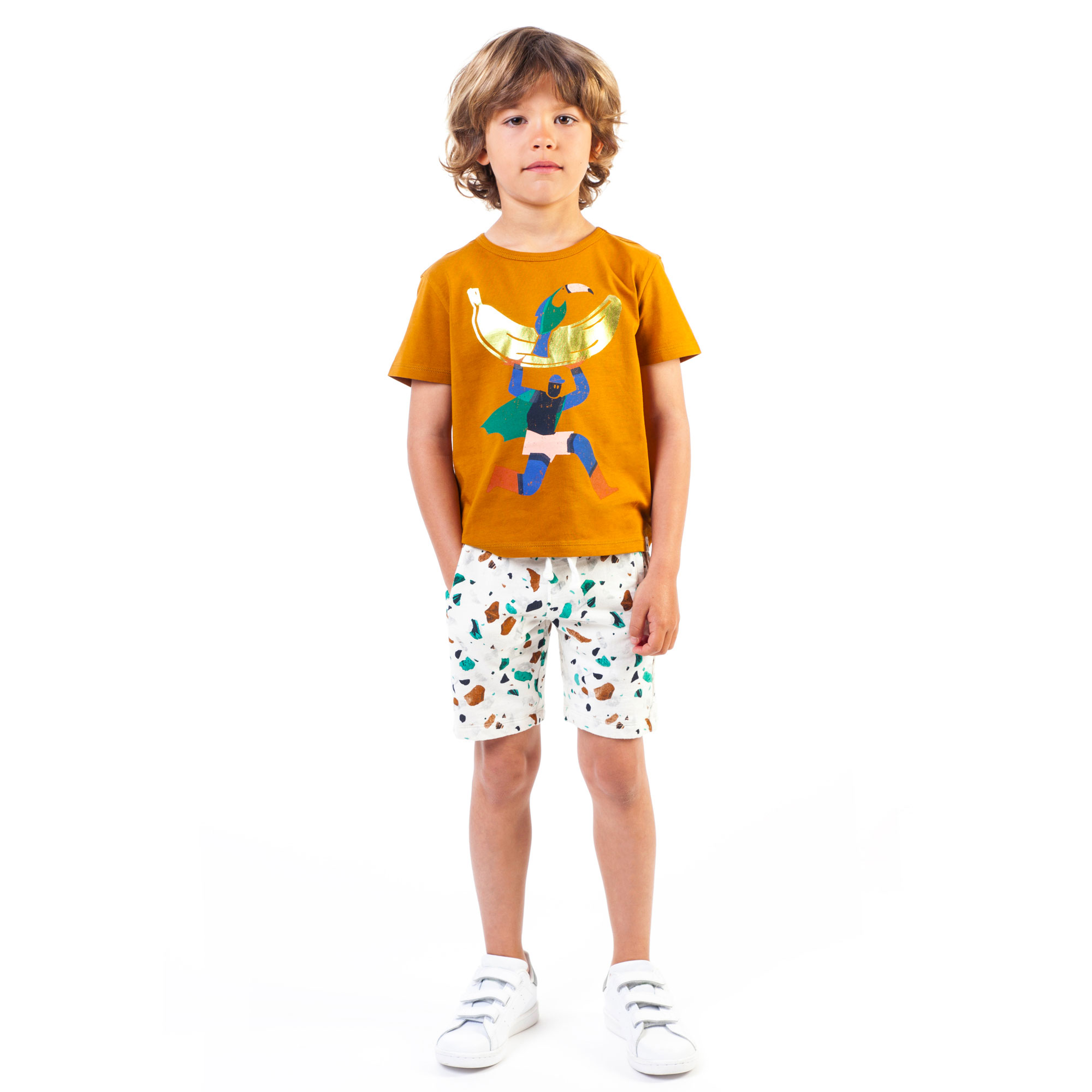 Terrazzo patterned shorts BILLYBANDIT for BOY