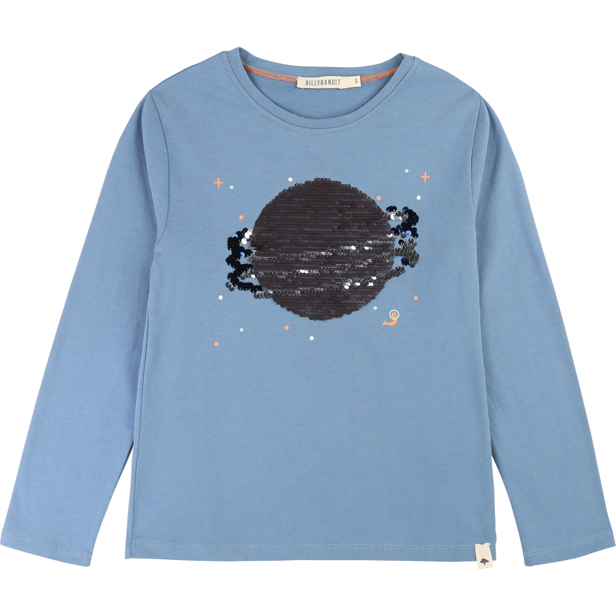 Sequin design cotton t-shirt BILLYBANDIT for BOY