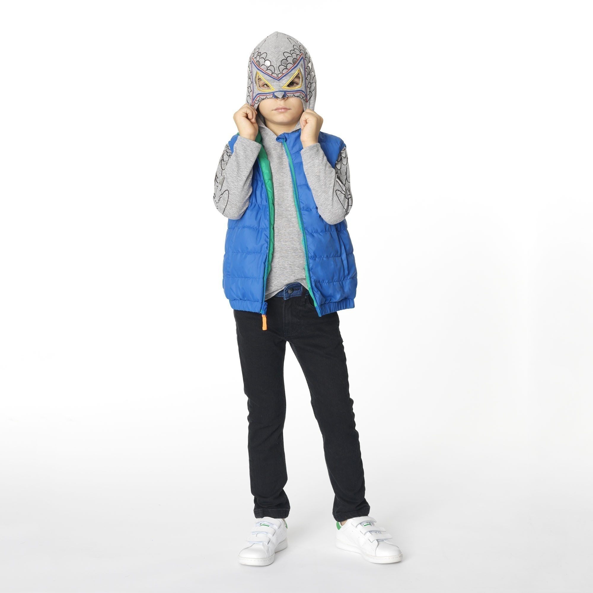Reversible sleeveless jacket BILLYBANDIT for BOY