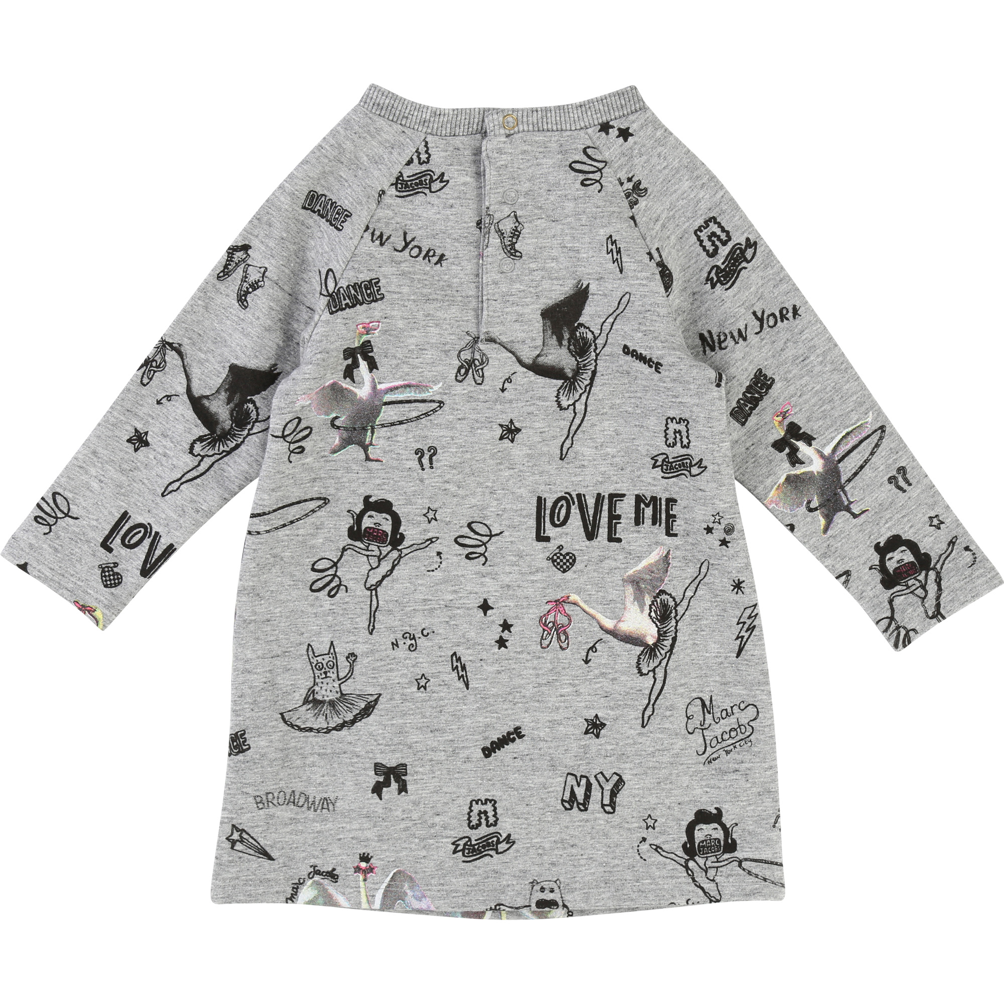 Robe molleton motif all-over LITTLE MARC JACOBS pour FILLE