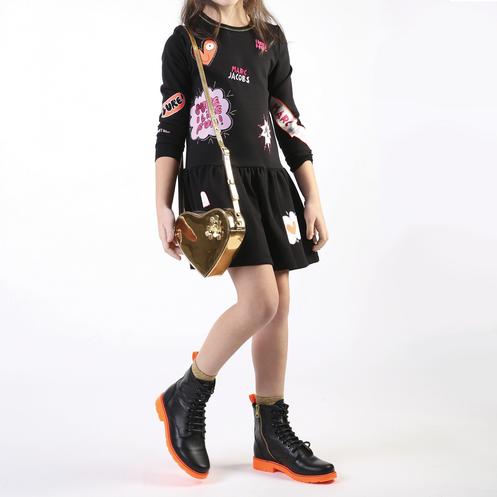 Handbag in synthetic leather LITTLE MARC JACOBS for GIRL