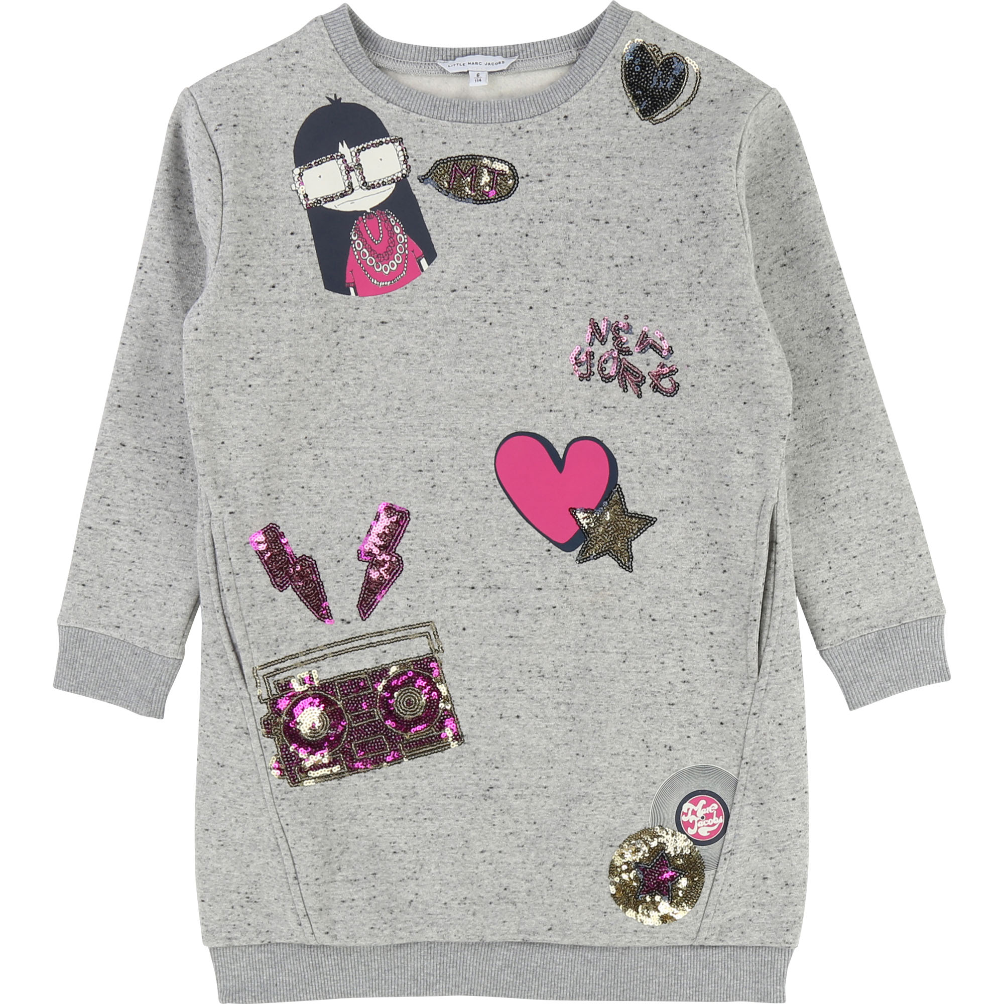 Dress with all-over print LITTLE MARC JACOBS for GIRL