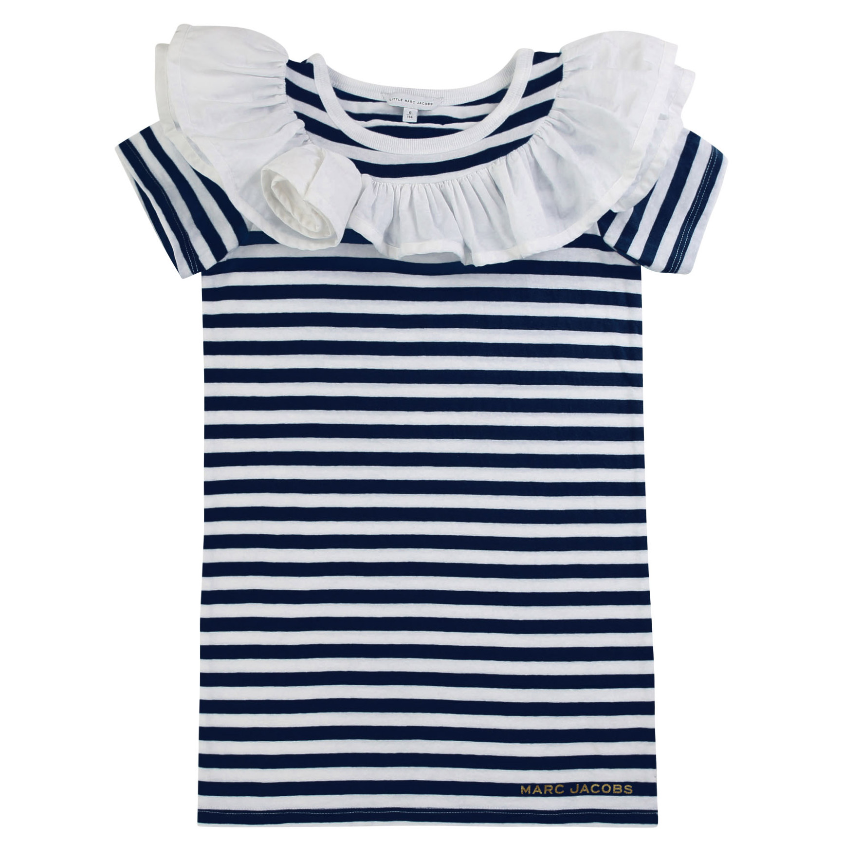 Vestito in jersey a righe THE MARC JACOBS Per BAMBINA
