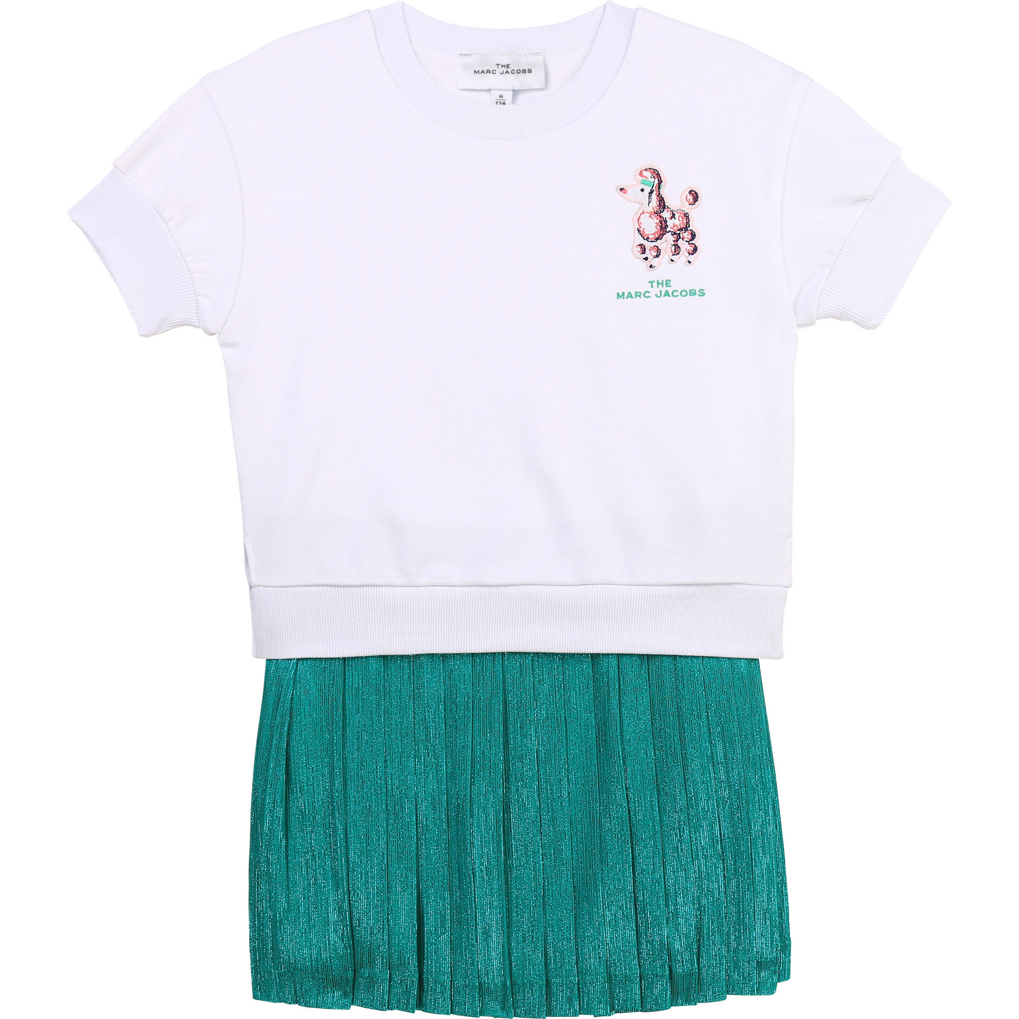 Dual-material 2-in-1 dress THE MARC JACOBS for GIRL