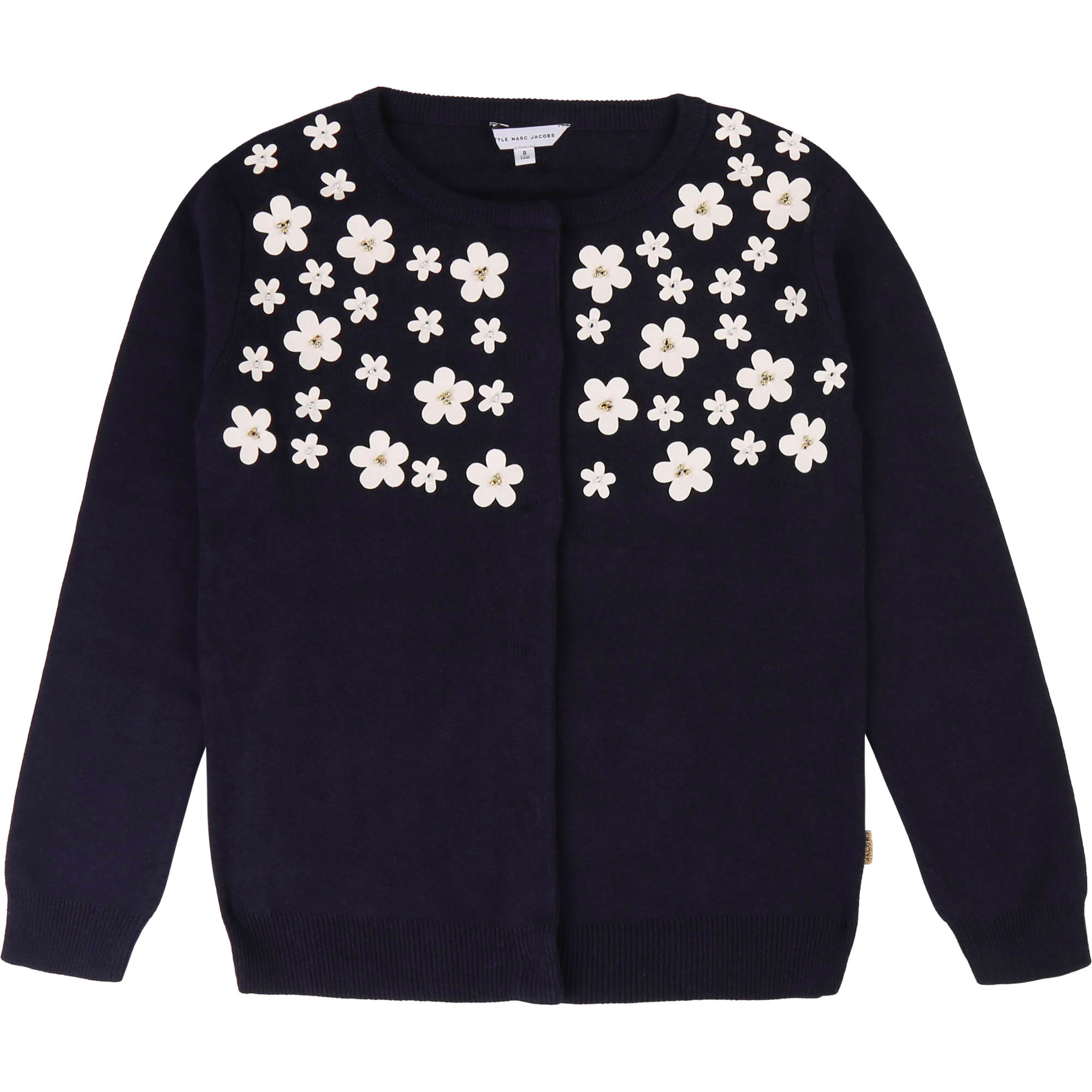 Plain cardigan with flowers. LITTLE MARC JACOBS for GIRL