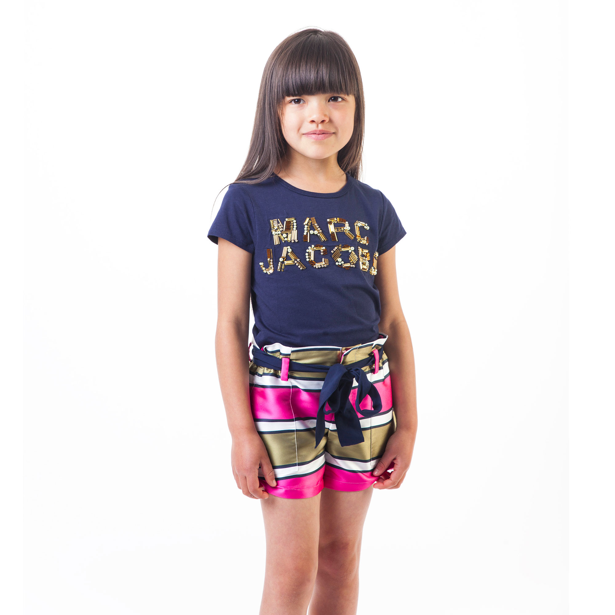 Beaded logo T-shirt LITTLE MARC JACOBS for GIRL
