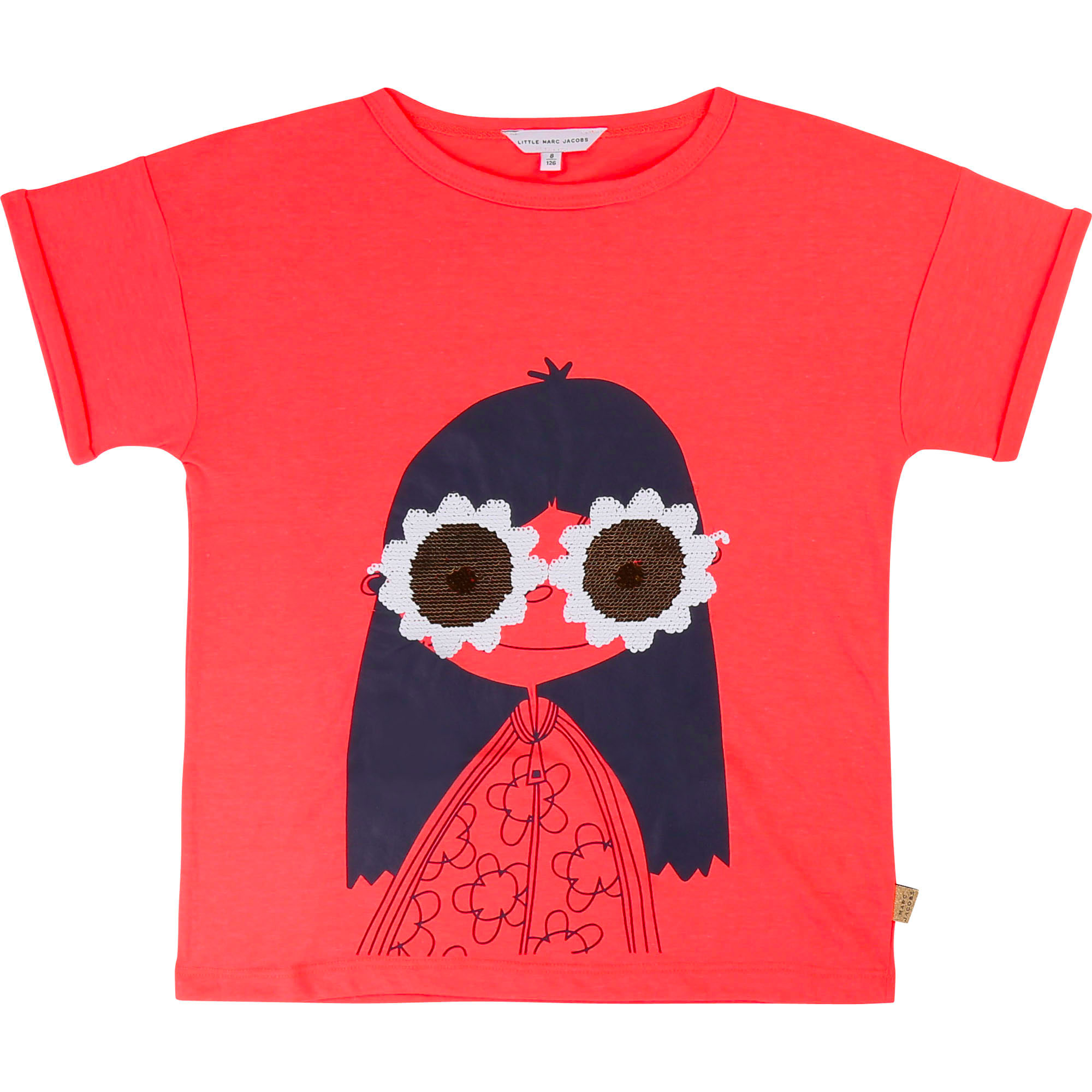 Sequin glasses T-shirt LITTLE MARC JACOBS for GIRL