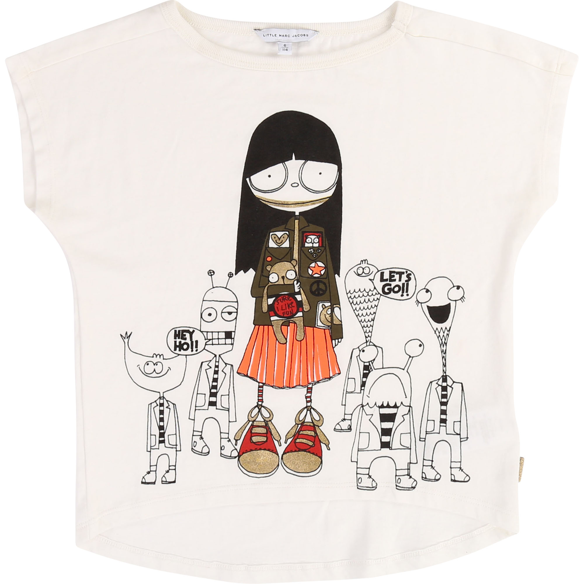 T-shirt in cotton and modal LITTLE MARC JACOBS for GIRL