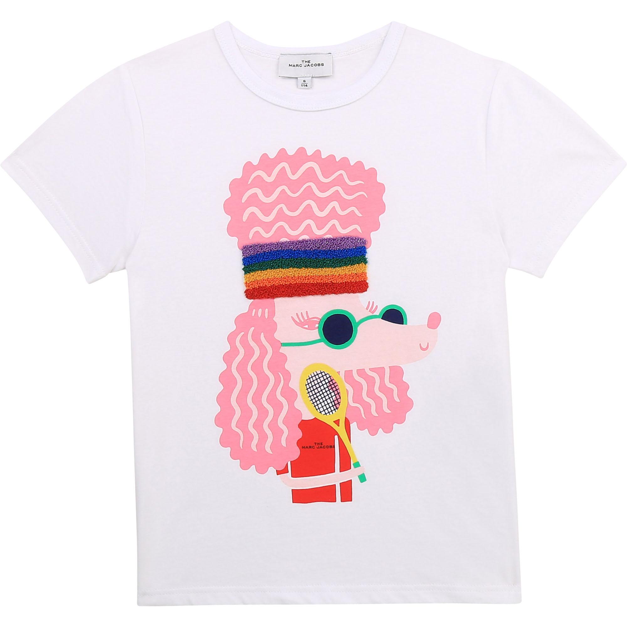 T-shirt à manches courtes en coton biologique THE MARC JACOBS pour FILLE