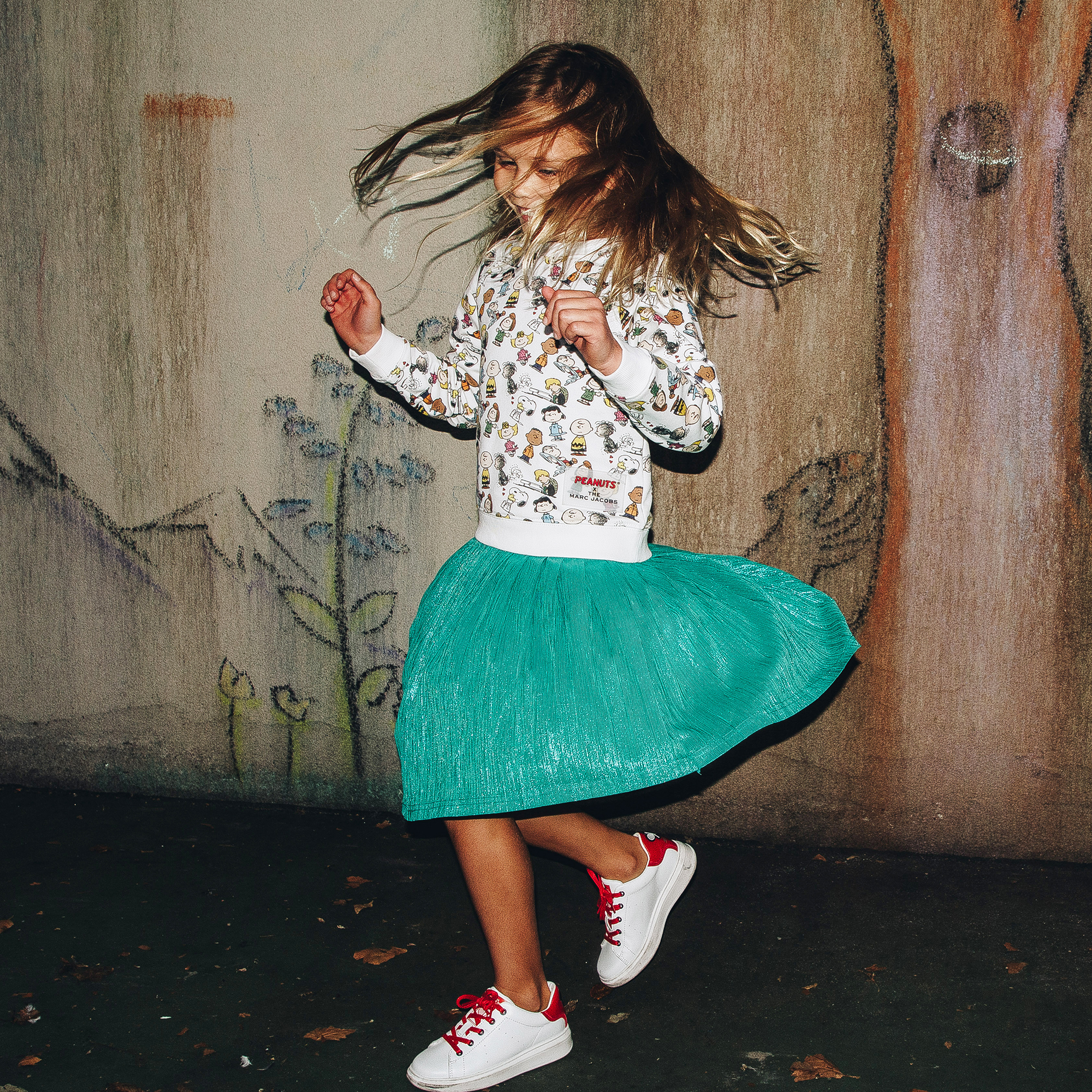 Patterned cotton sweatshirt THE MARC JACOBS for GIRL