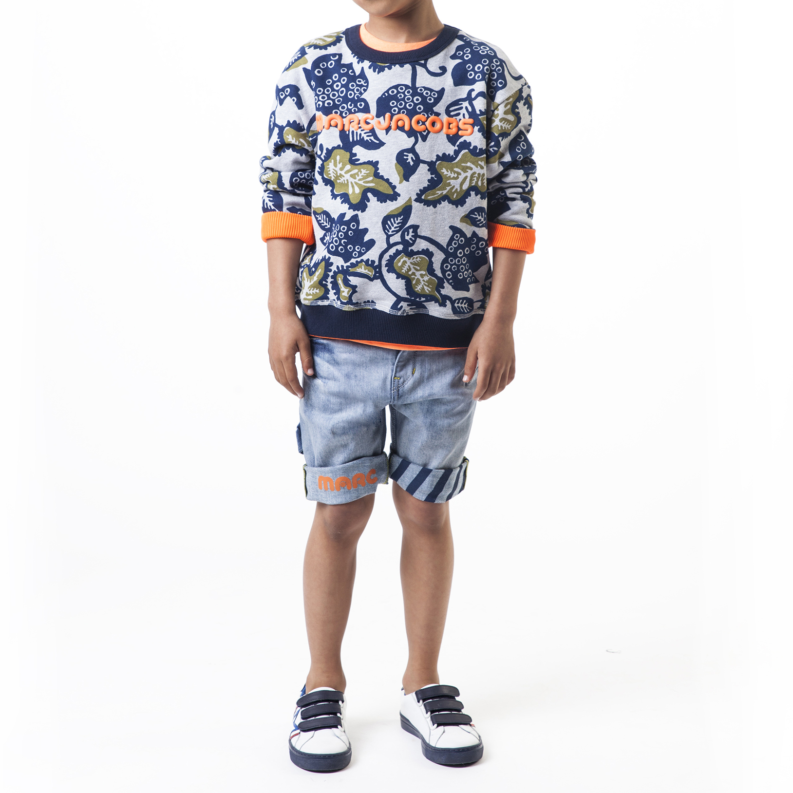 Faded denim bermuda shorts THE MARC JACOBS for BOY