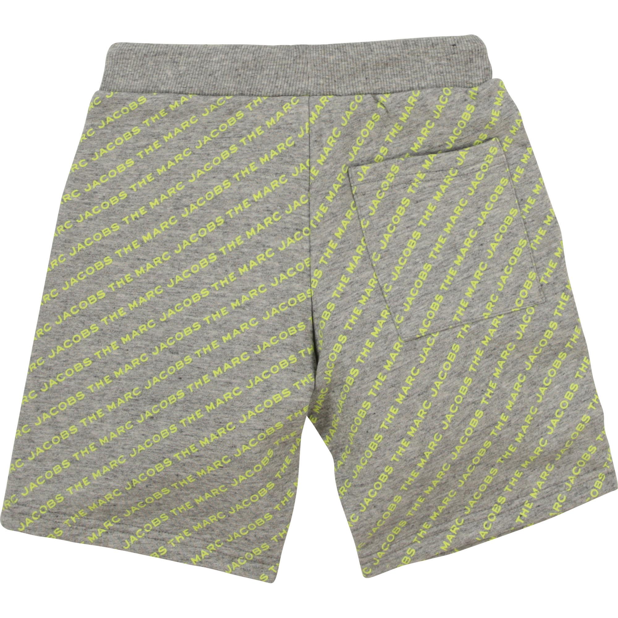 Cotton fleece bermuda shorts THE MARC JACOBS for BOY