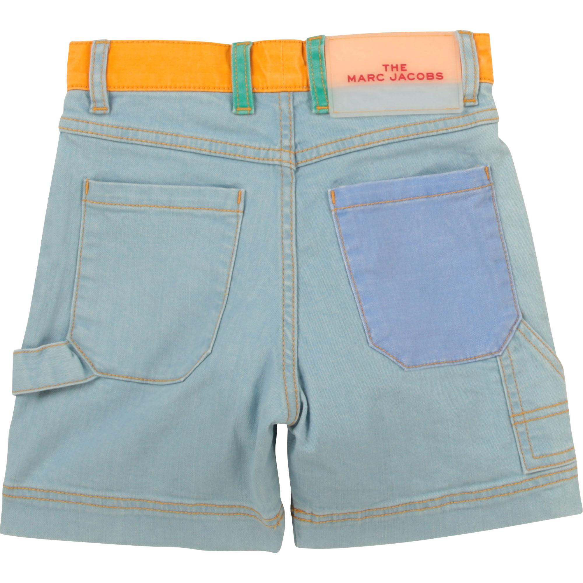 Short en jean coton extensible THE MARC JACOBS pour GARCON