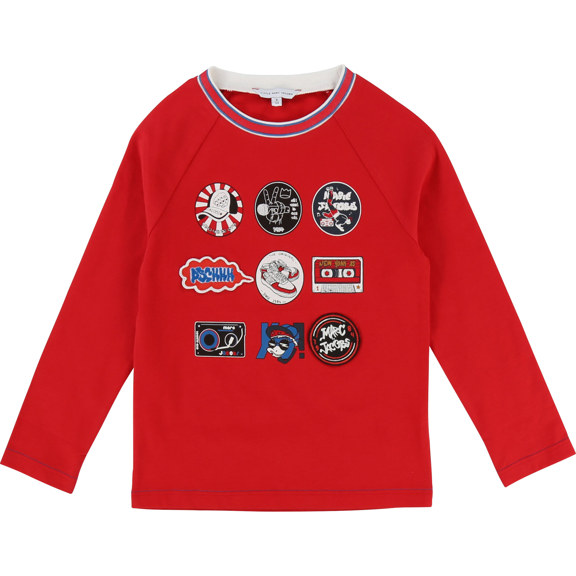 T-shirt with embroidered badges THE MARC JACOBS for BOY