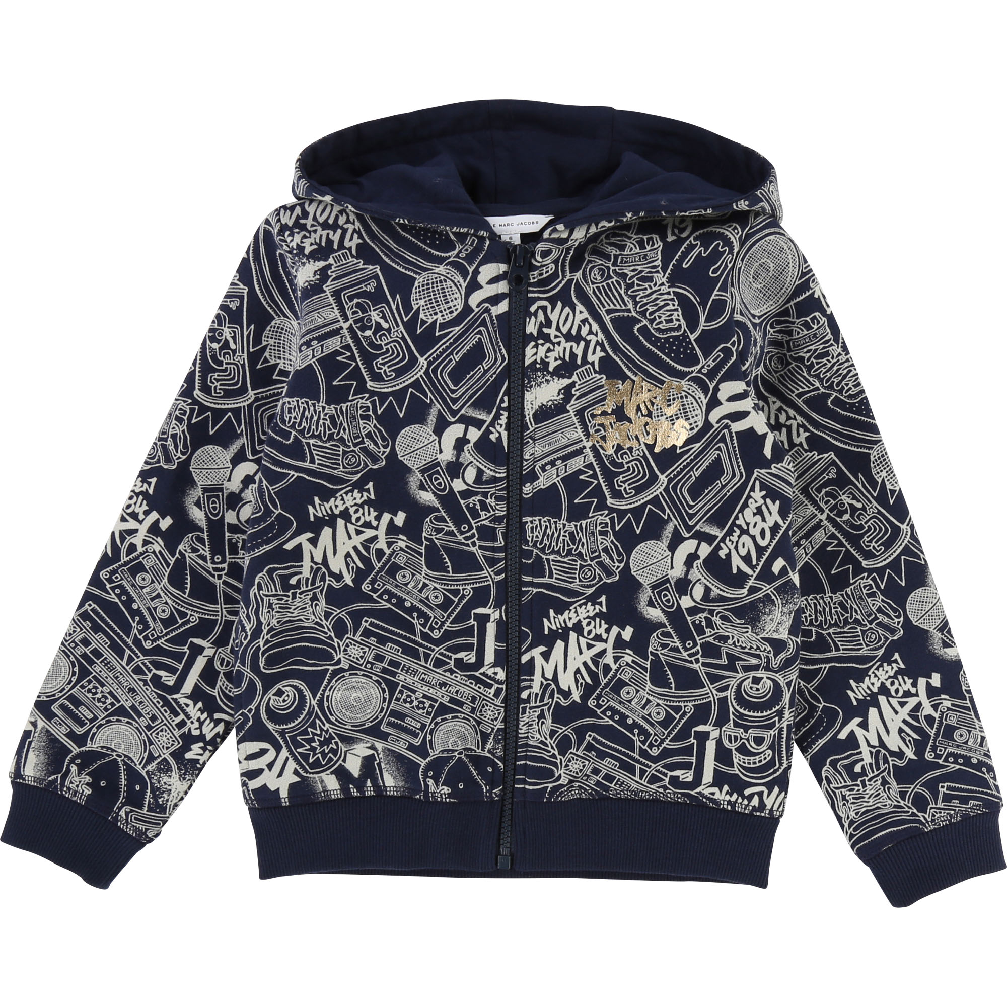 Hooded fleece cardigan LITTLE MARC JACOBS for BOY