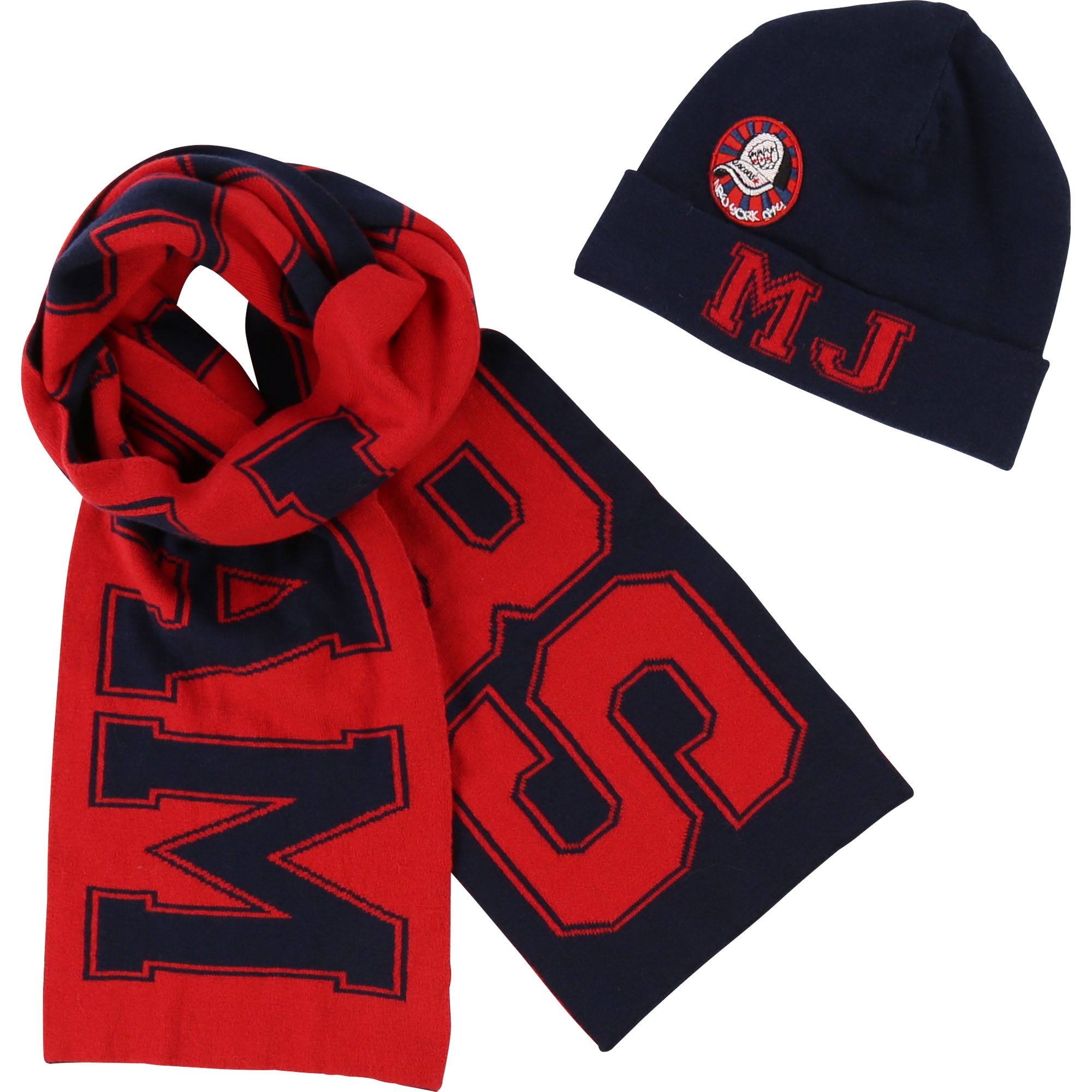 Knit hat and scarf THE MARC JACOBS for BOY