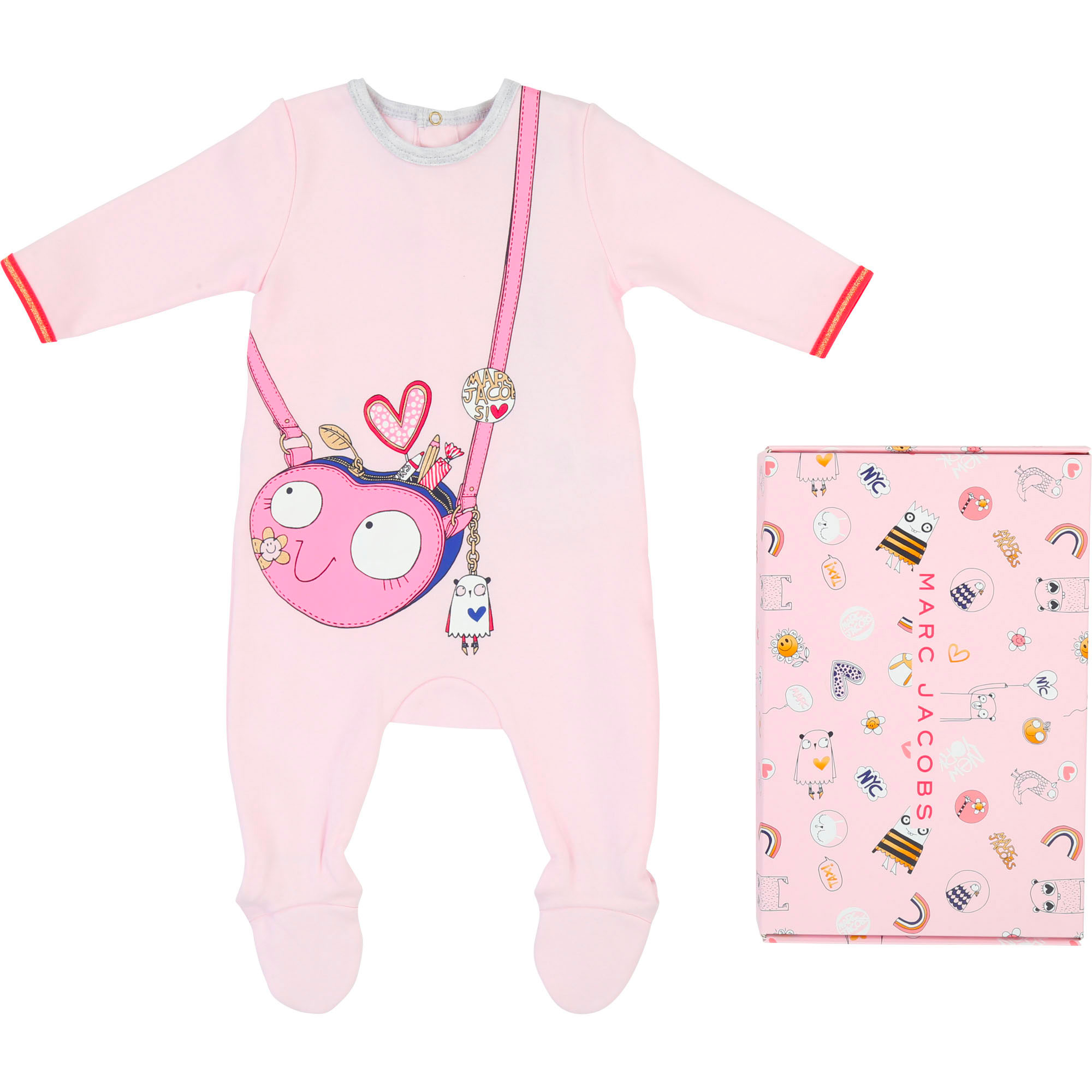 Pijama de interlock con dibujo LITTLE MARC JACOBS para UNISEXO