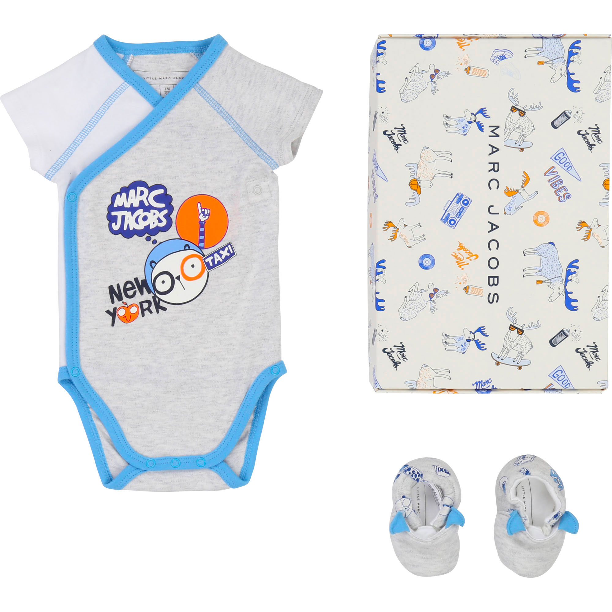 Interlock onesie and slippers LITTLE MARC JACOBS for UNISEX