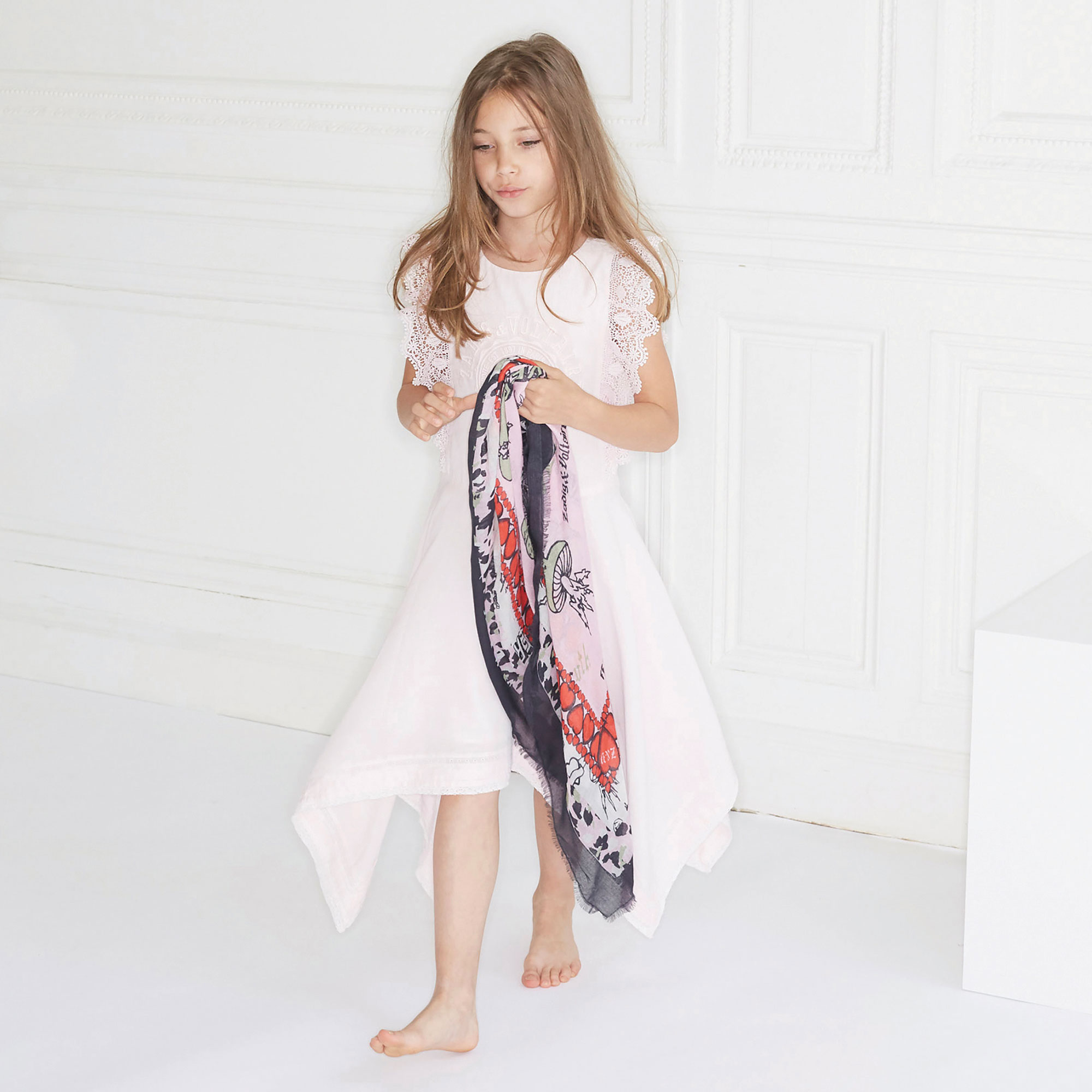 Printed modal tagelmust ZADIG & VOLTAIRE for GIRL