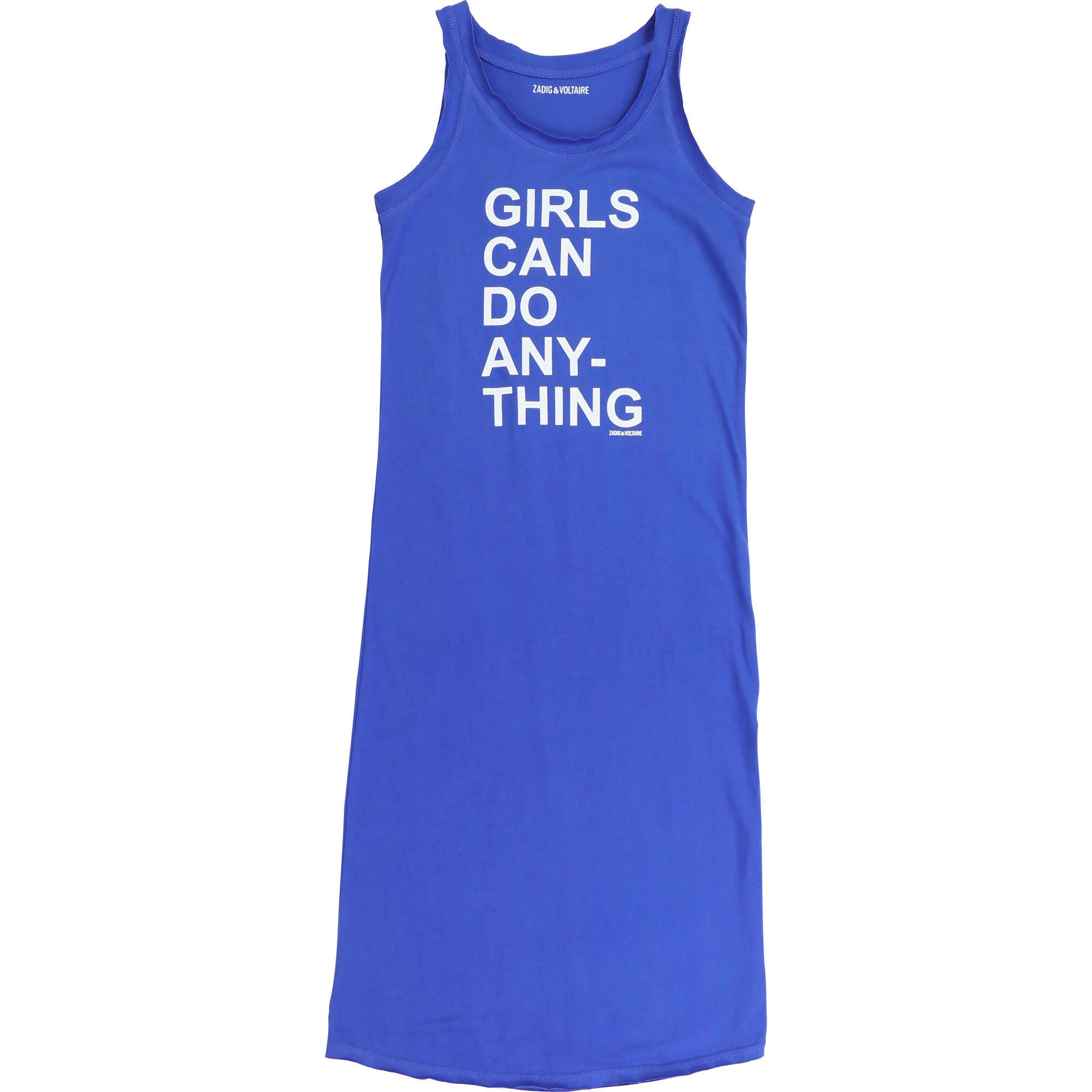 Sleeveless dress with message ZADIG & VOLTAIRE for GIRL