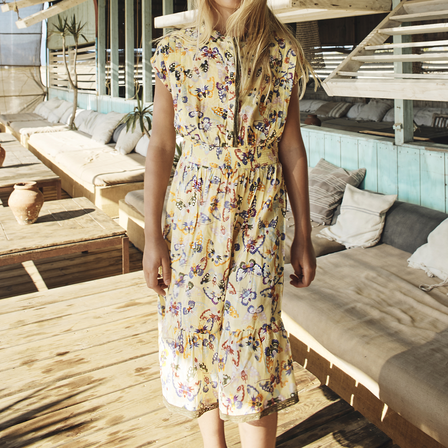 Printed dress with lace ZADIG & VOLTAIRE for GIRL