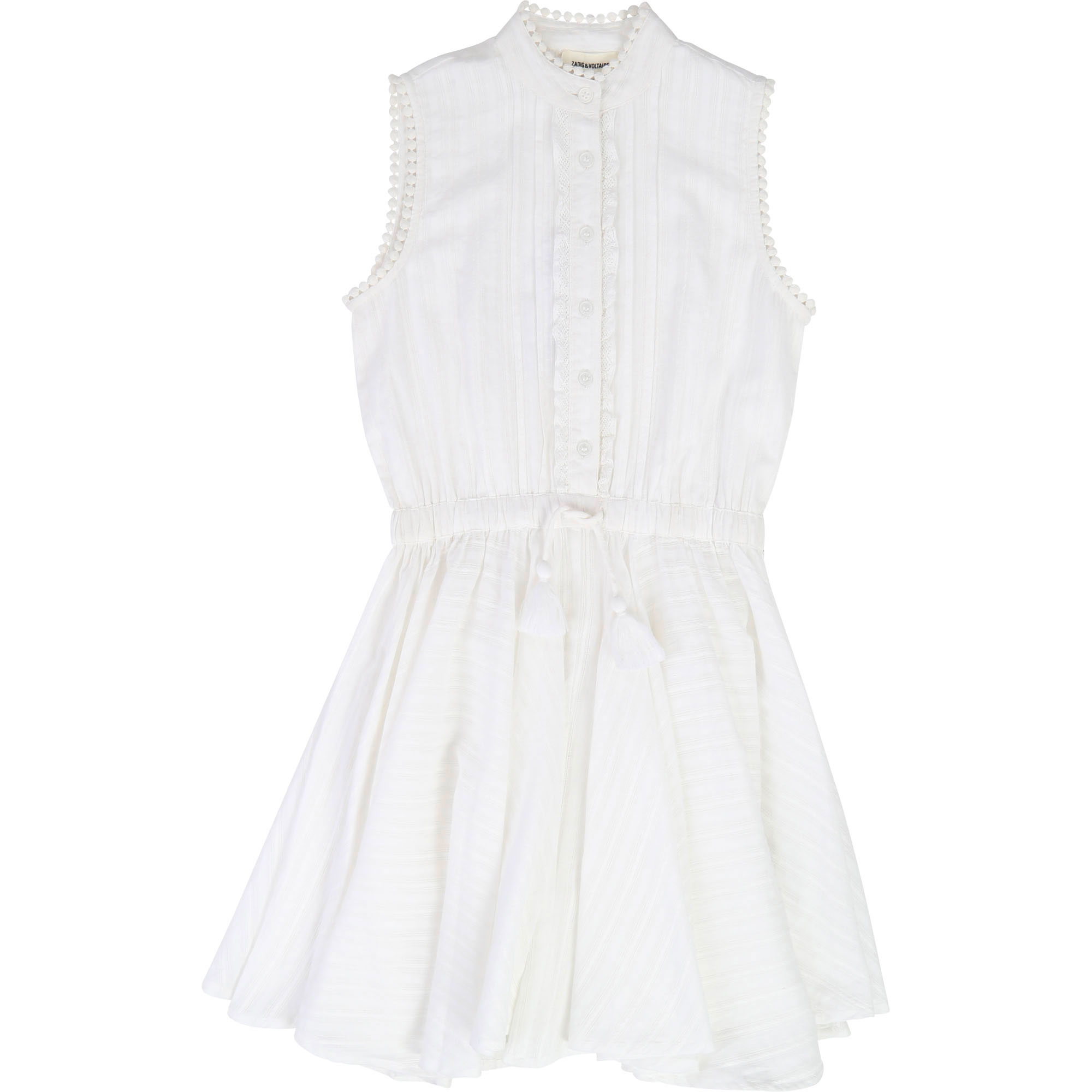 Button-up cotton crepe dress ZADIG & VOLTAIRE for GIRL