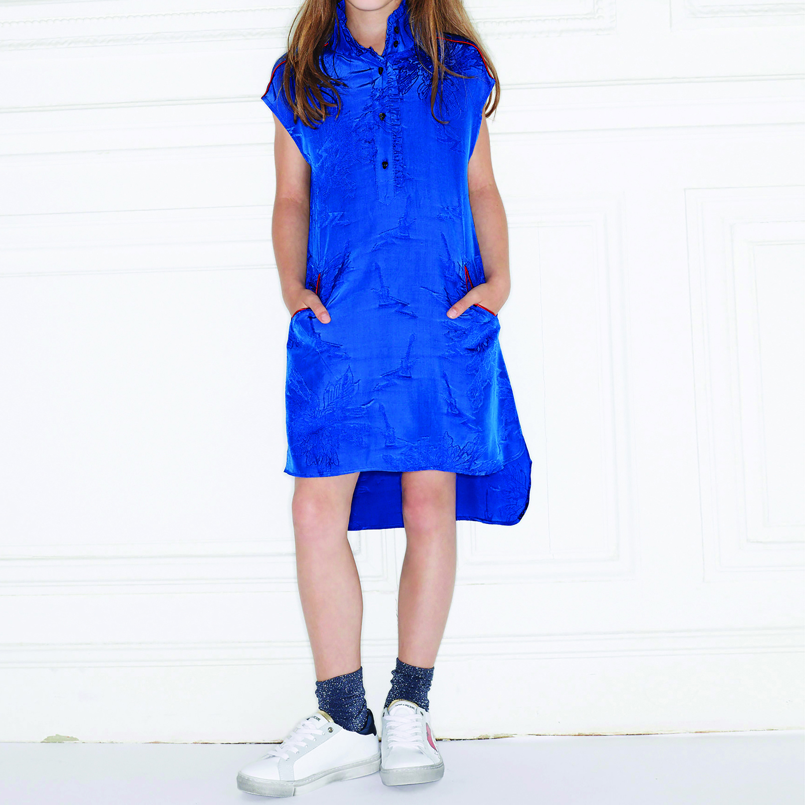 Silk dress with ruffle detail ZADIG & VOLTAIRE for GIRL