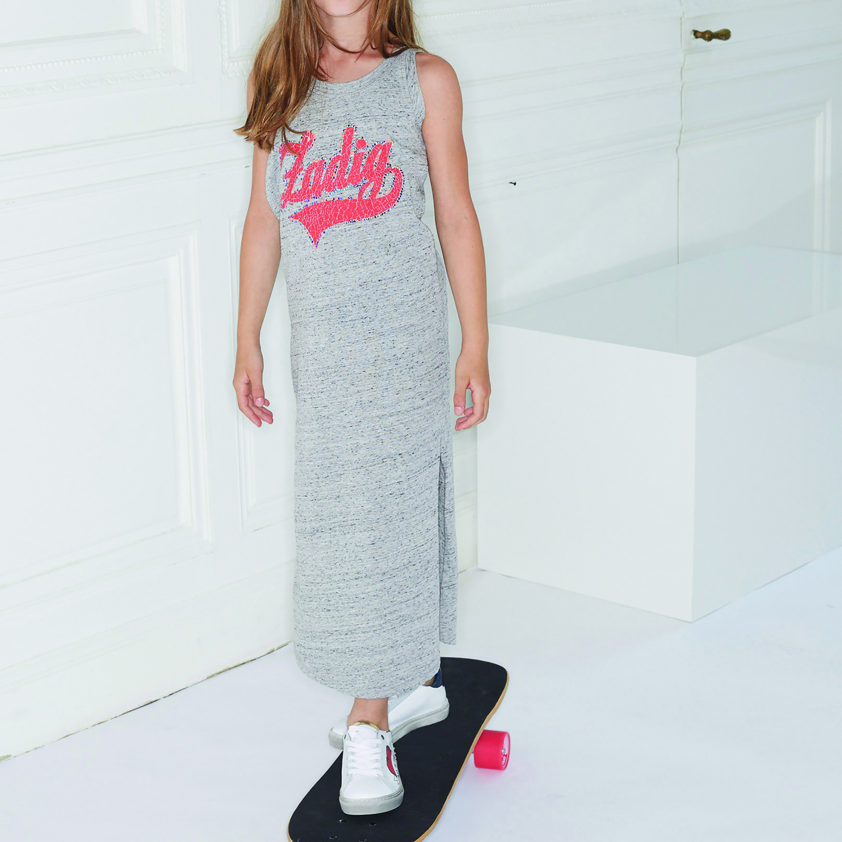 Long dress with logo on chest ZADIG & VOLTAIRE for GIRL