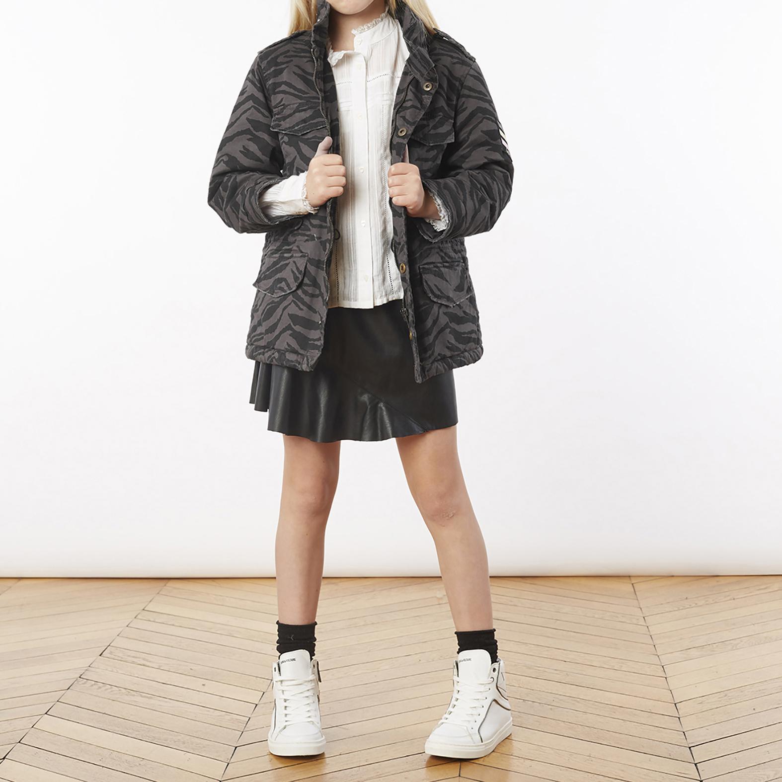 Short imitation leather skirt ZADIG & VOLTAIRE for GIRL