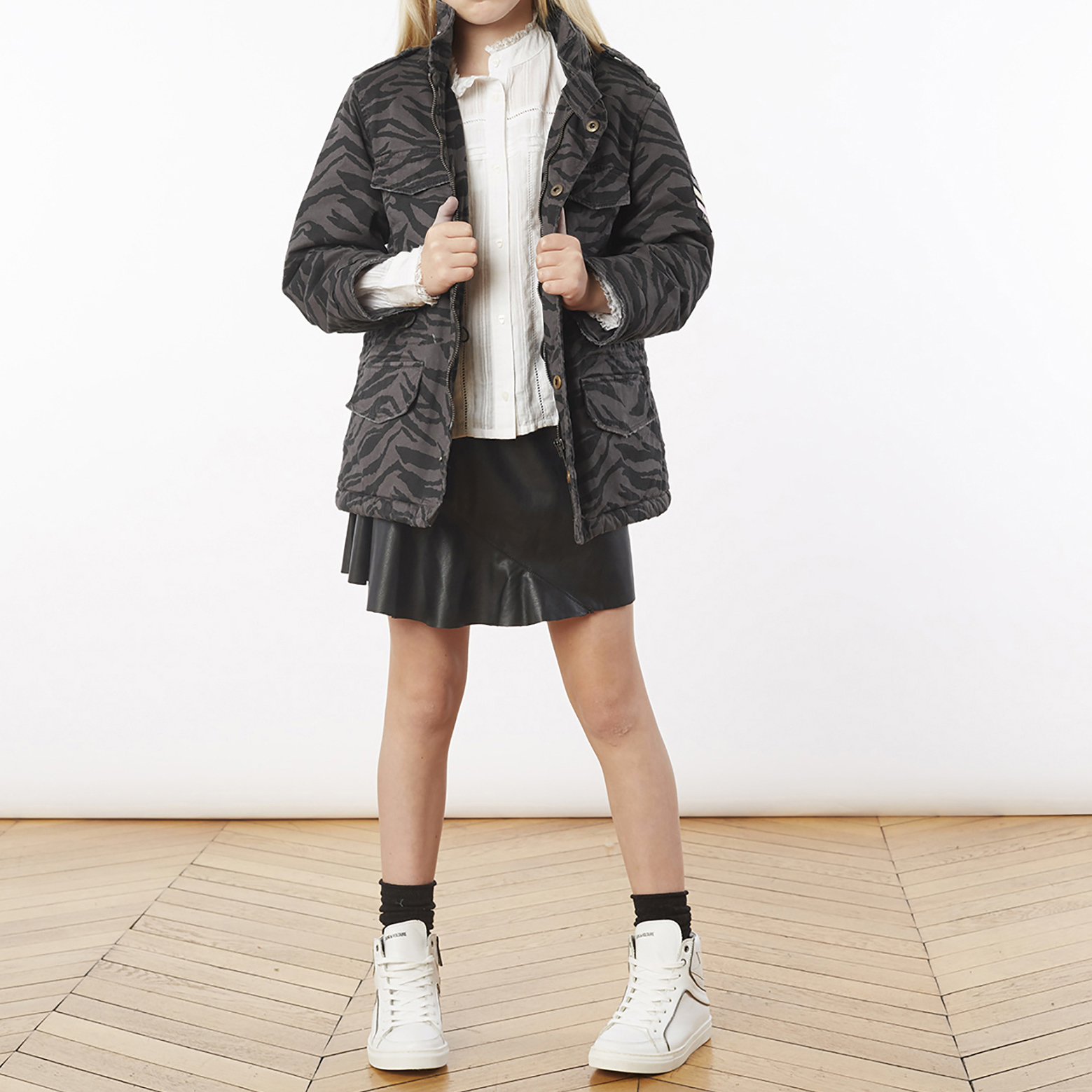 Hooded cotton parka ZADIG & VOLTAIRE for GIRL