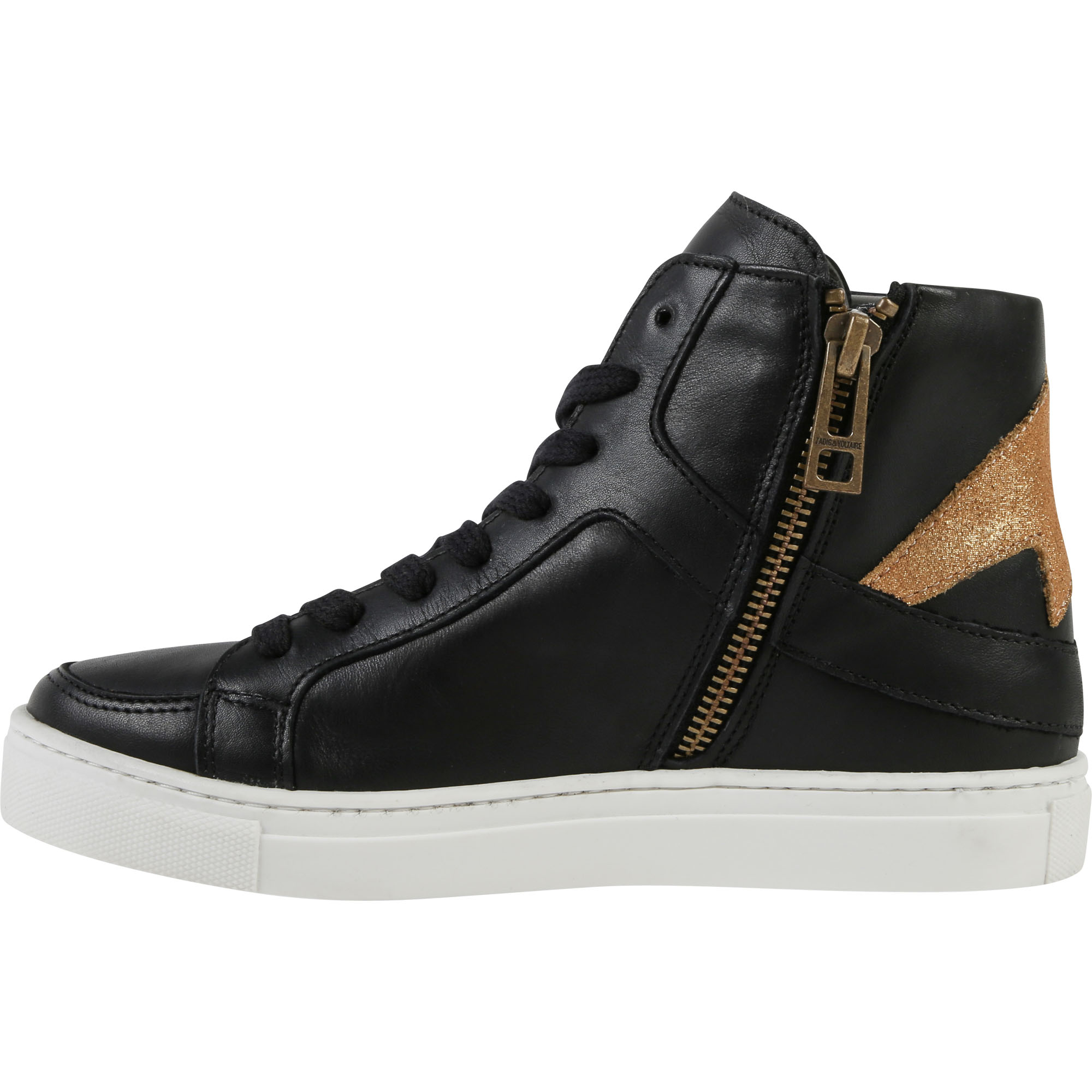 High-top leather trainers ZADIG & VOLTAIRE for GIRL