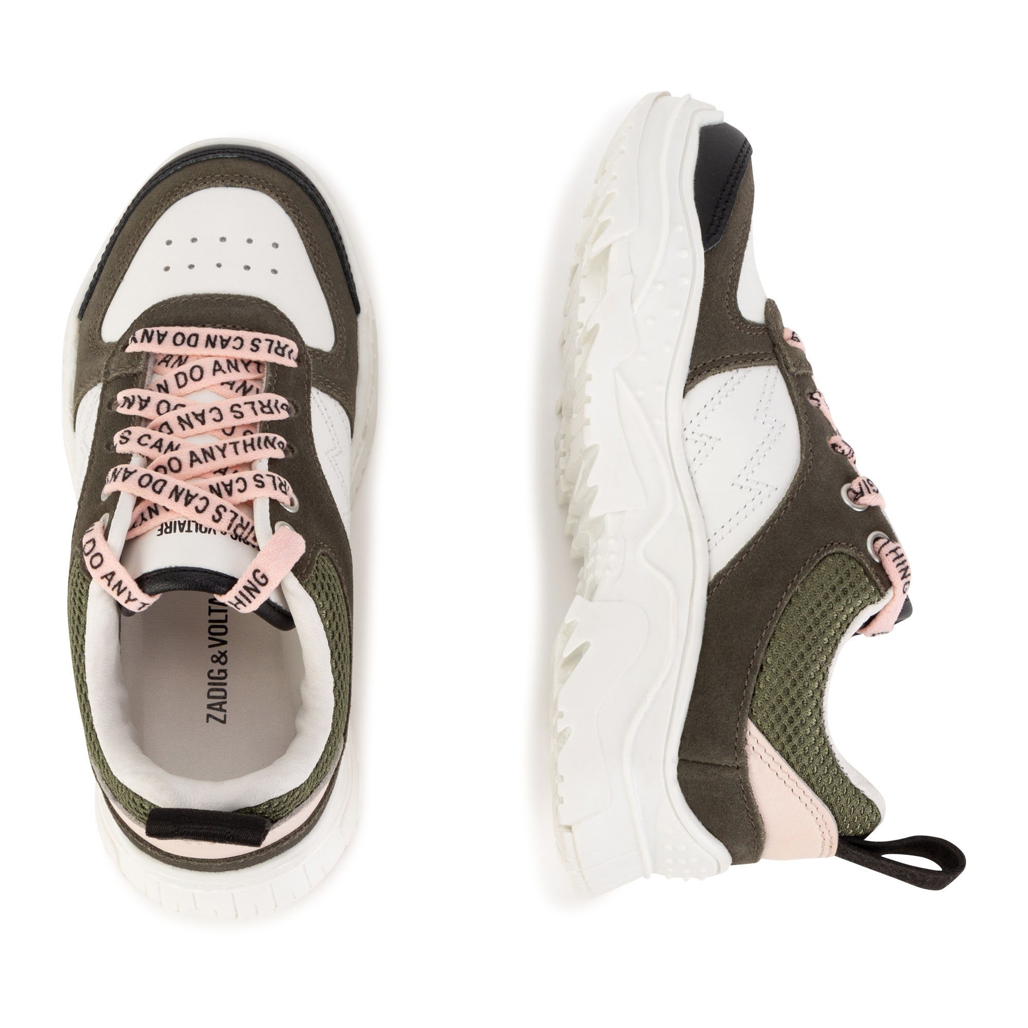 Leather and mesh trainers ZADIG & VOLTAIRE for GIRL
