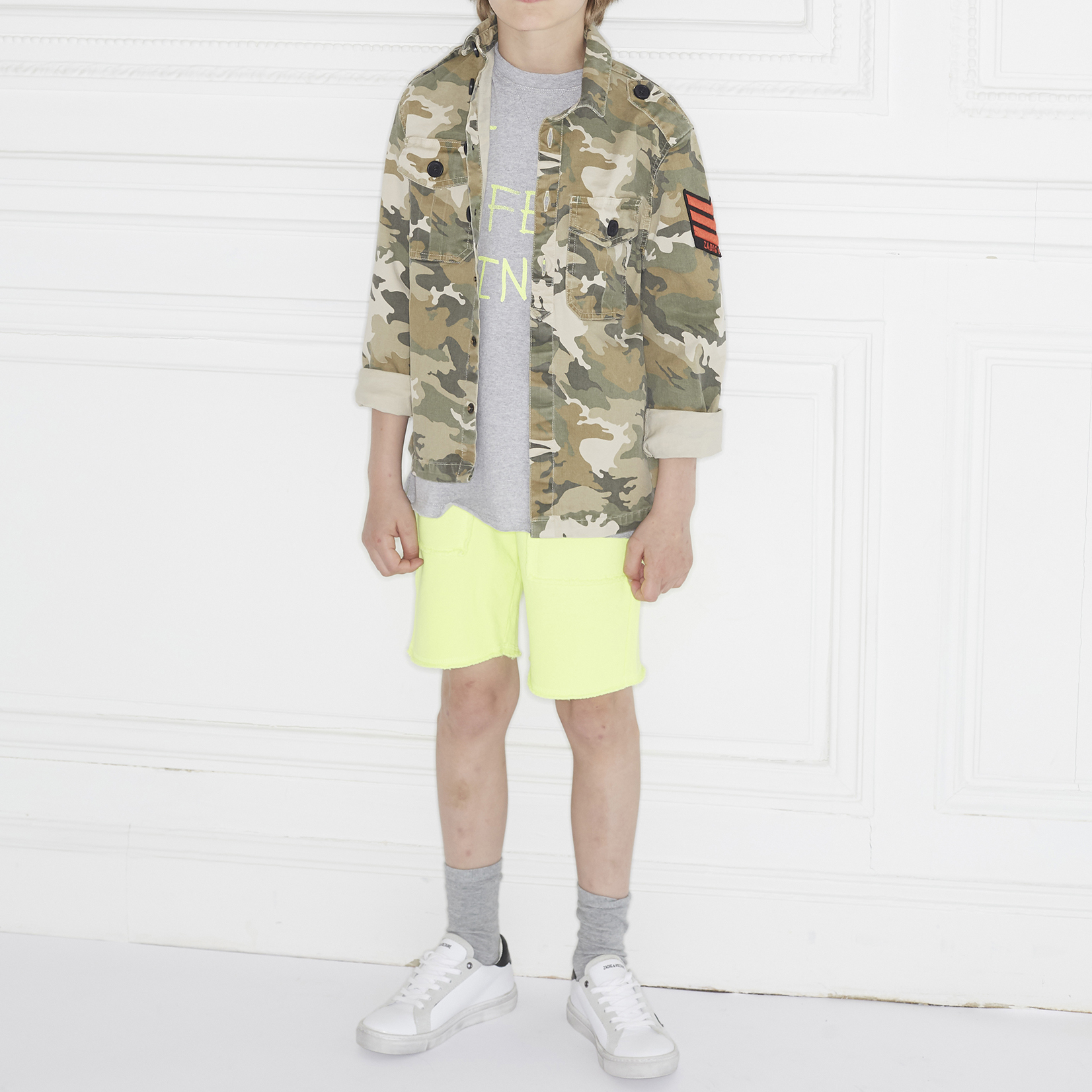 Chemise camouflage en twill ZADIG & VOLTAIRE pour GARCON