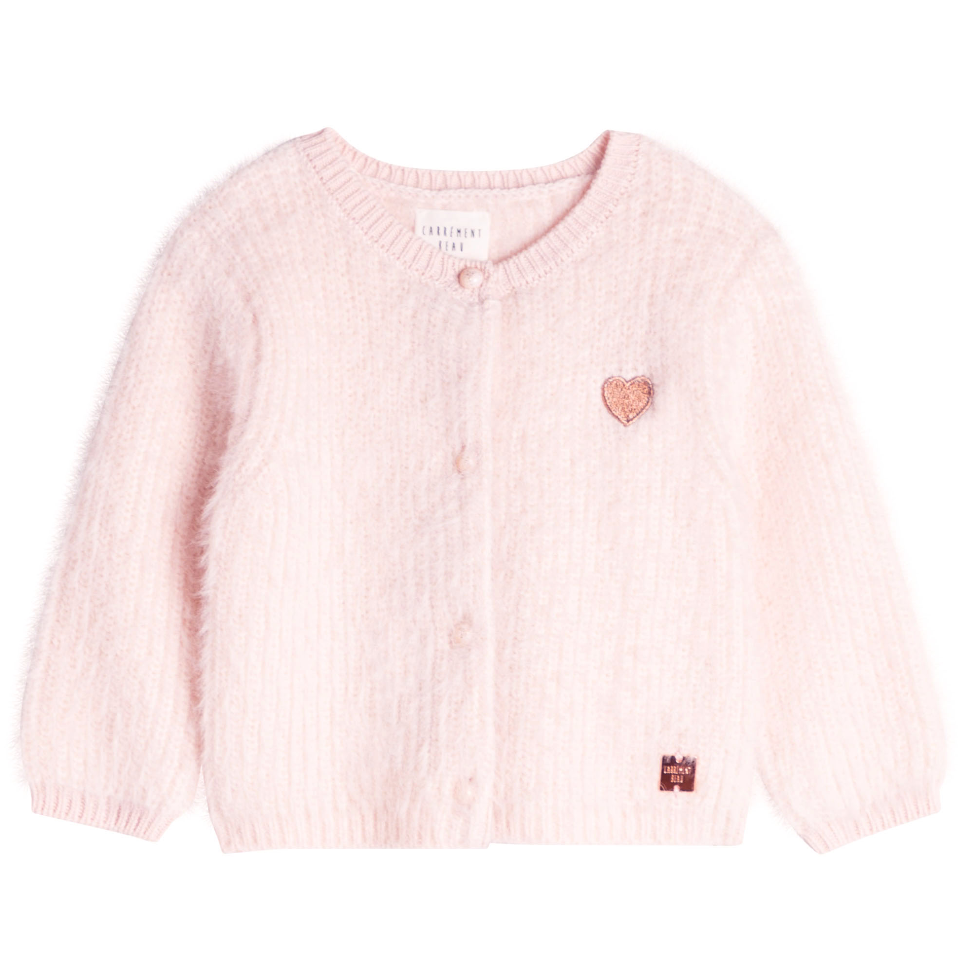 KNITTED CARDIGAN CARREMENT BEAU for GIRL